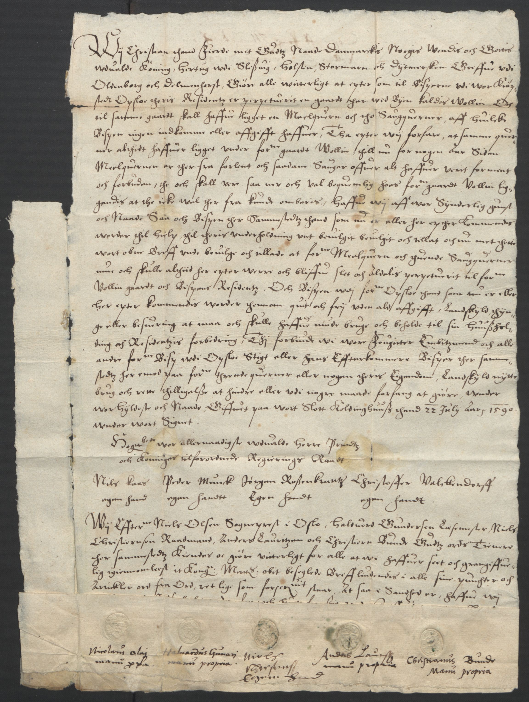 SAO, Oslo stiftsdireksjon, G/Gb/L0001: Bispestolens dokumenter, 1584-1612, s. 17