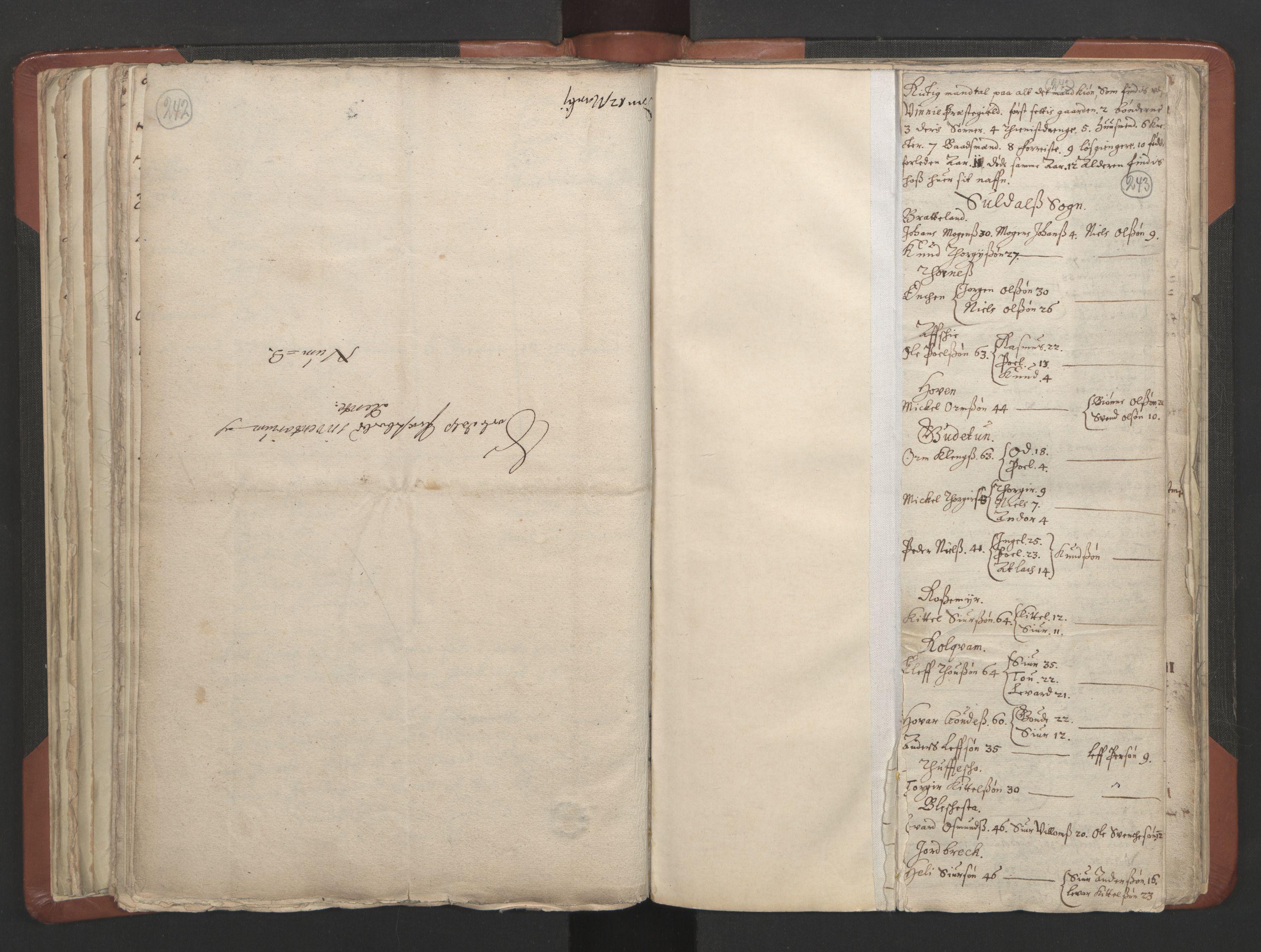 RA, Sogneprestenes manntall 1664-1666, nr. 19: Ryfylke prosti, 1664-1666, s. 242-243