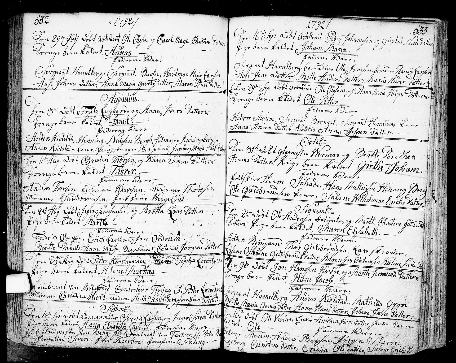 SAO, Fredrikstad prestekontor Kirkebøker, F/Fa/L0002: Ministerialbok nr. 2, 1750-1804, s. 532-533