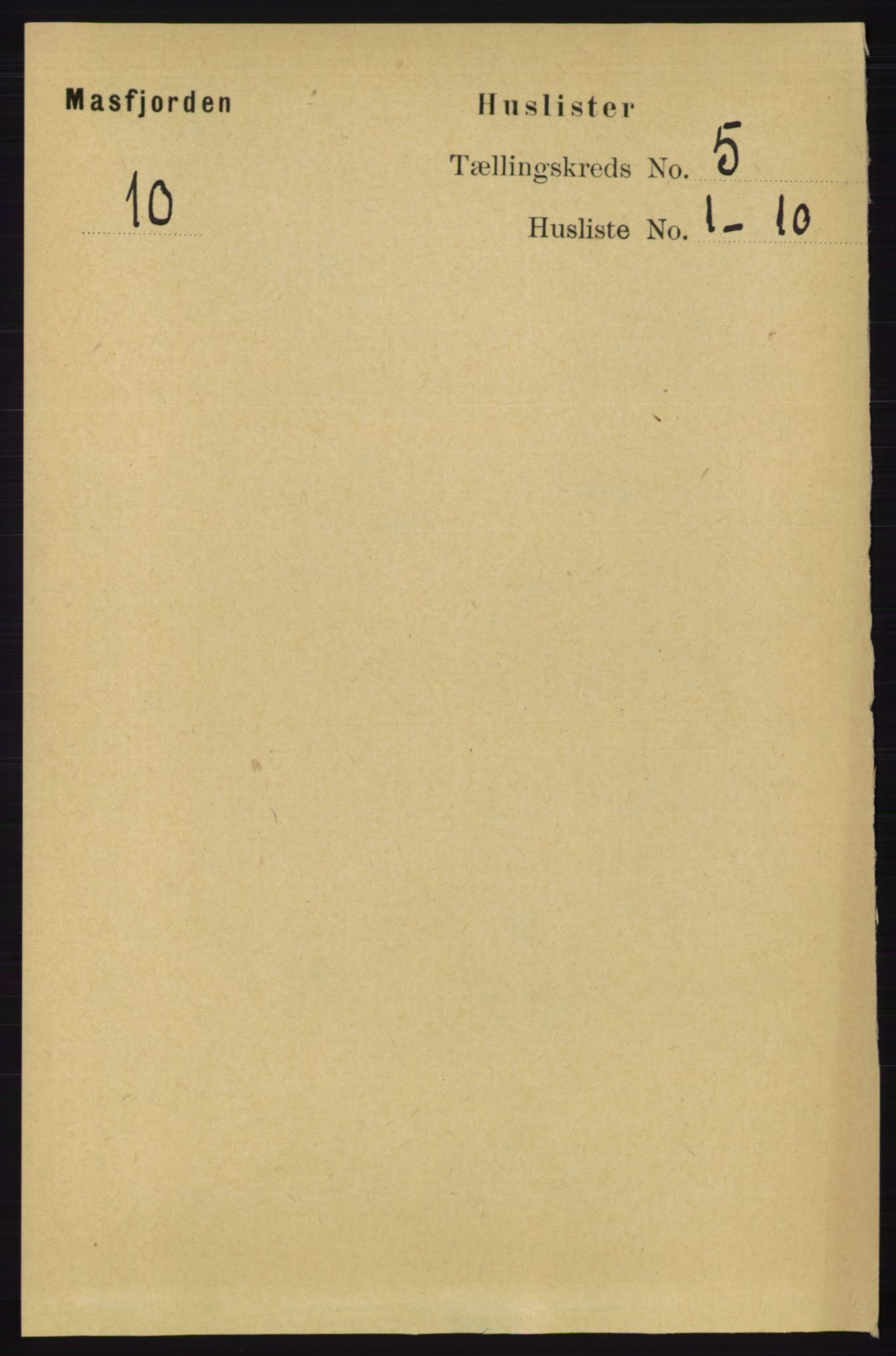 RA, Folketelling 1891 for 1266 Masfjorden herred, 1891, s. 842