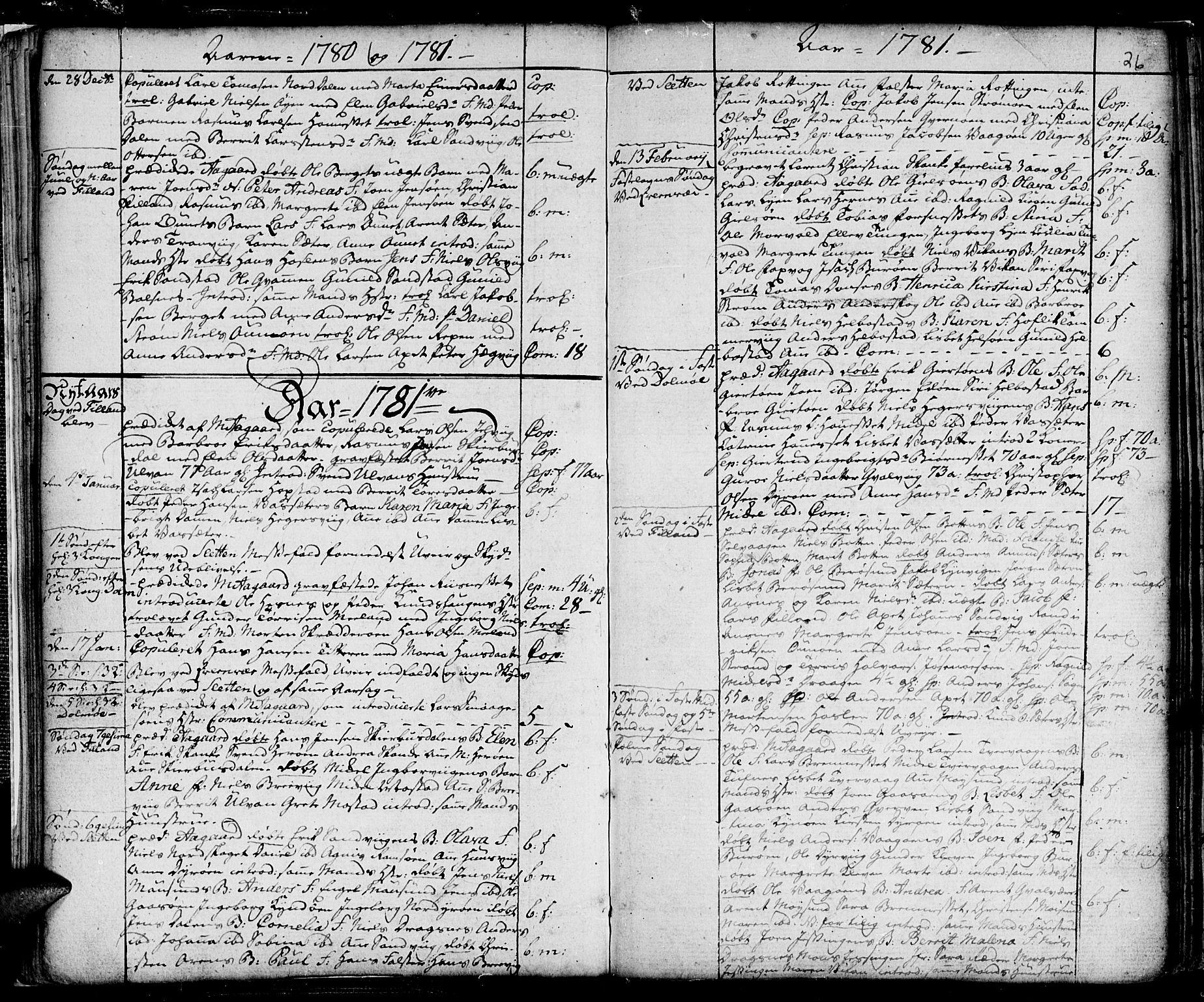 SAT, Ministerialprotokoller, klokkerbøker og fødselsregistre - Sør-Trøndelag, 634/L0526: Ministerialbok nr. 634A02, 1775-1818, s. 26