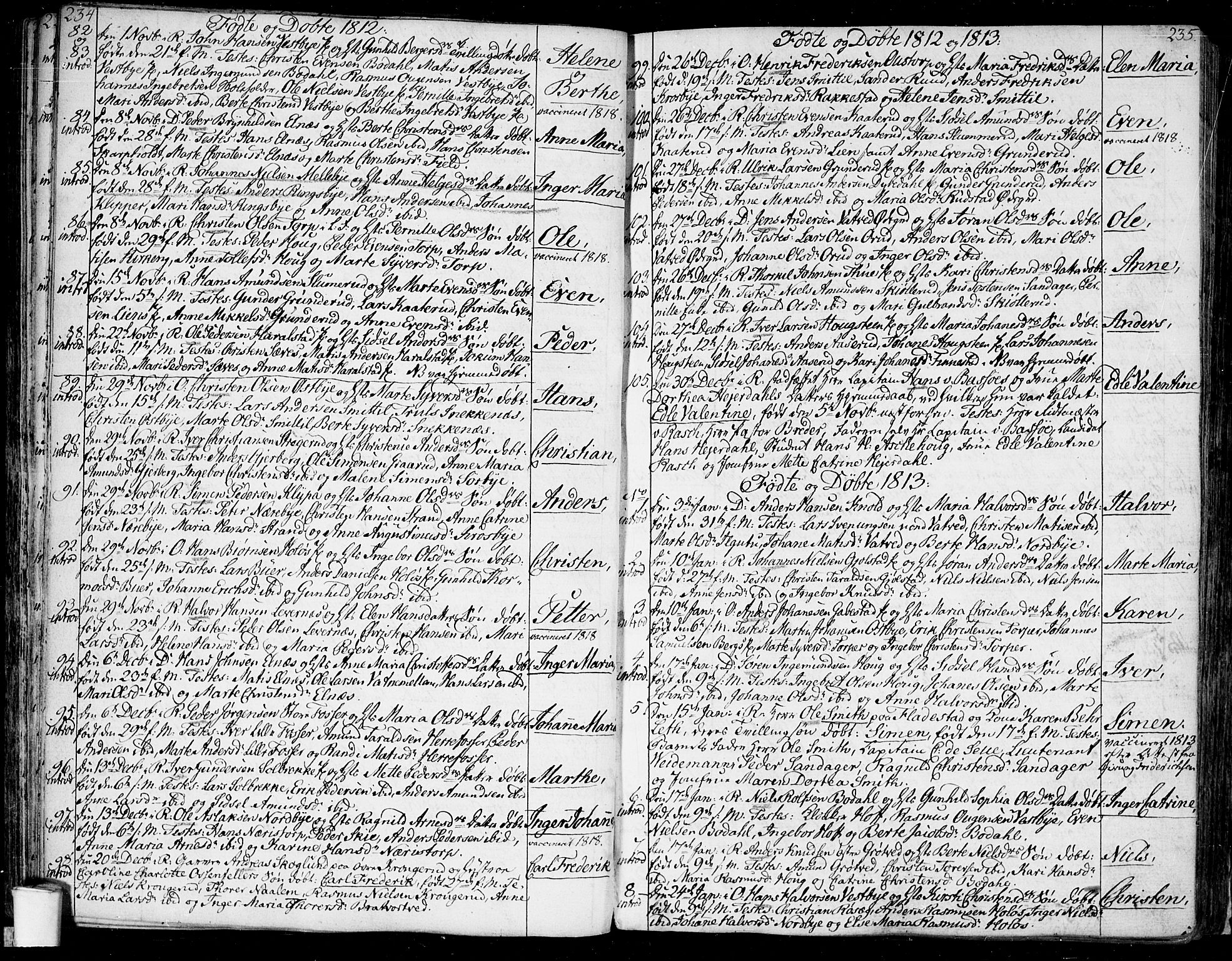 SAO, Rakkestad prestekontor Kirkebøker, F/Fa/L0005: Ministerialbok nr. I 5, 1784-1814, s. 234-235