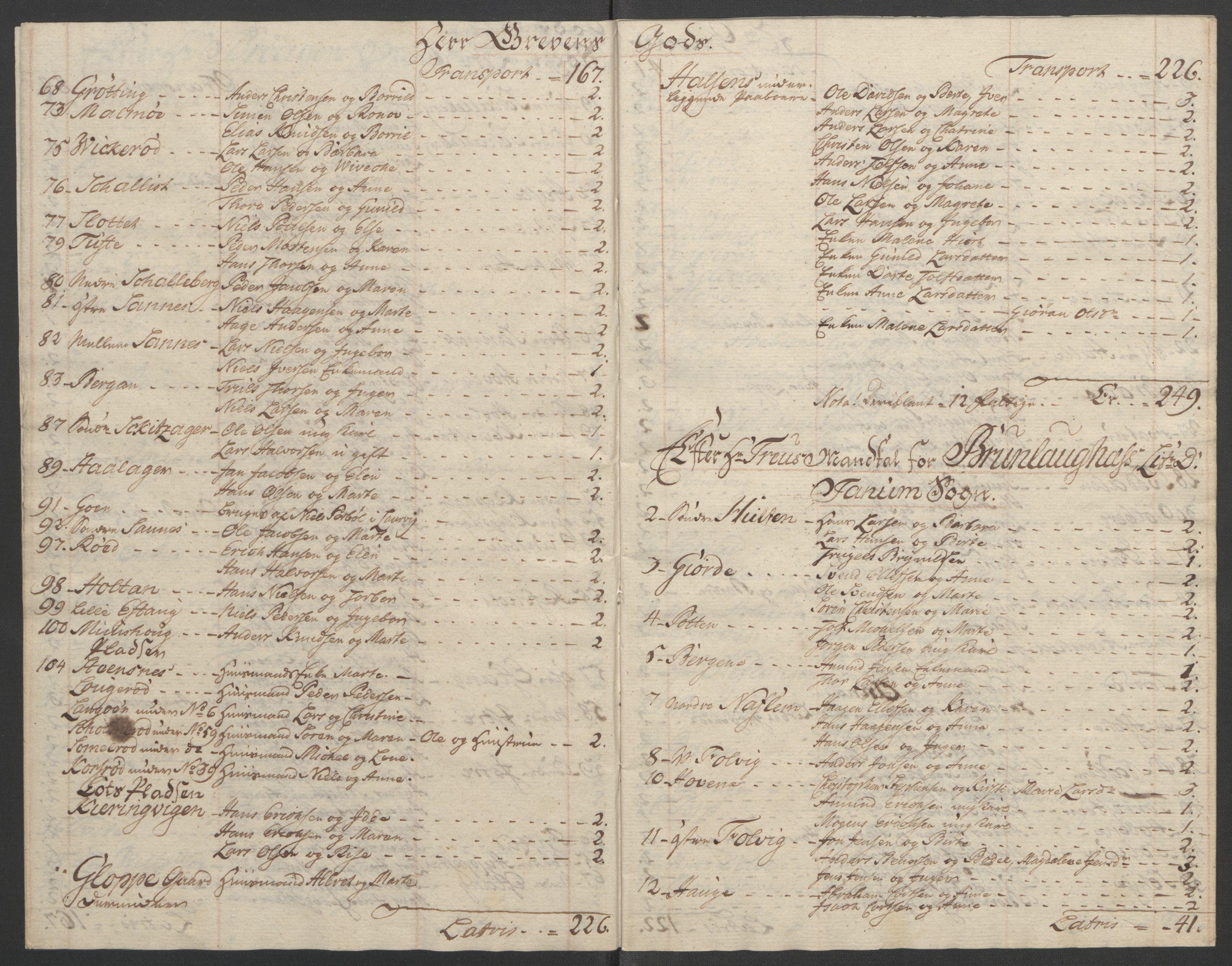 RA, Rentekammeret inntil 1814, Reviderte regnskaper, Fogderegnskap, R33/L2033: Ekstraskatten Larvik grevskap, 1762-1764, s. 552