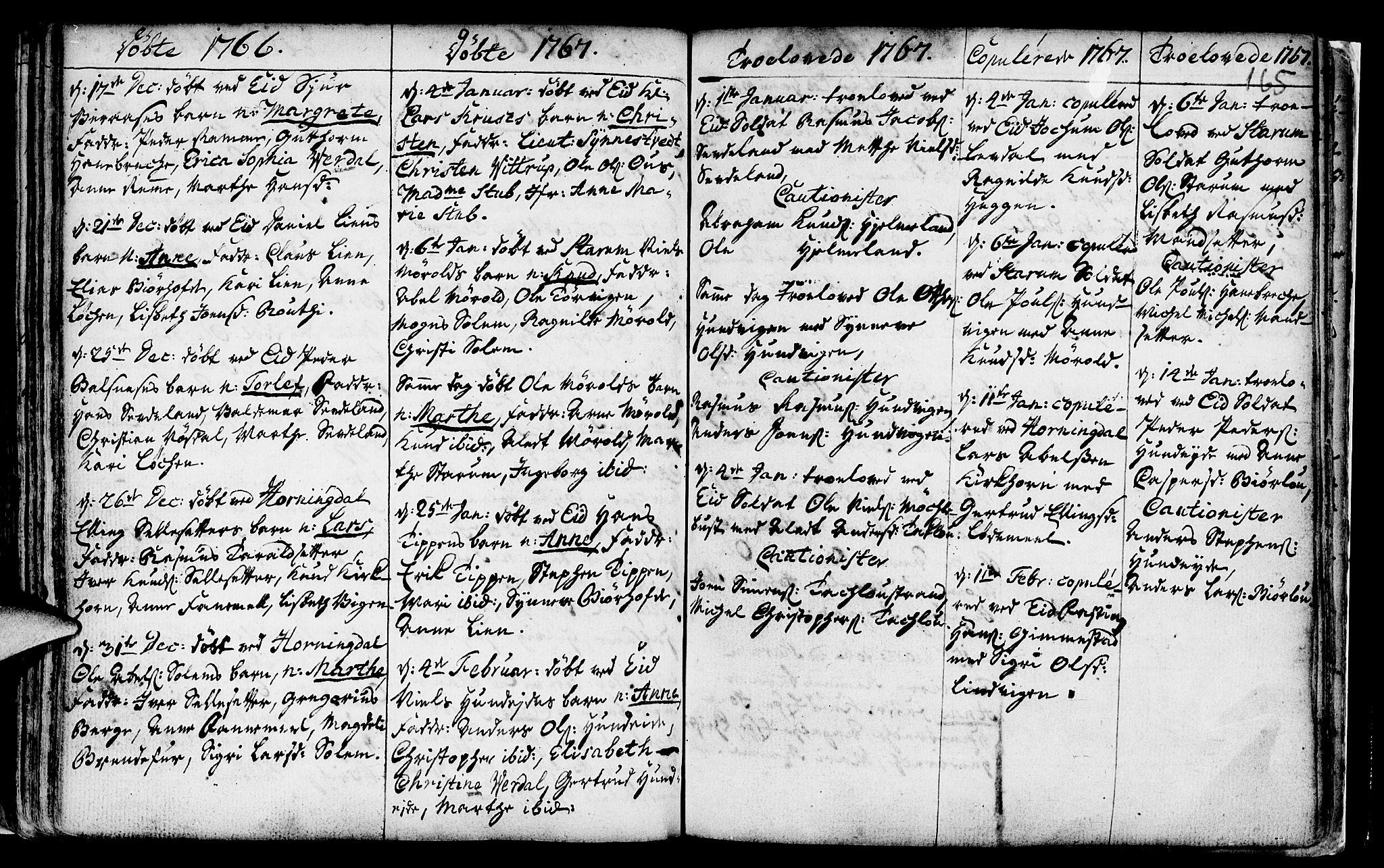 SAB, Eid Sokneprestembete, H/Haa: Ministerialbok nr. A 2, 1741-1769, s. 165