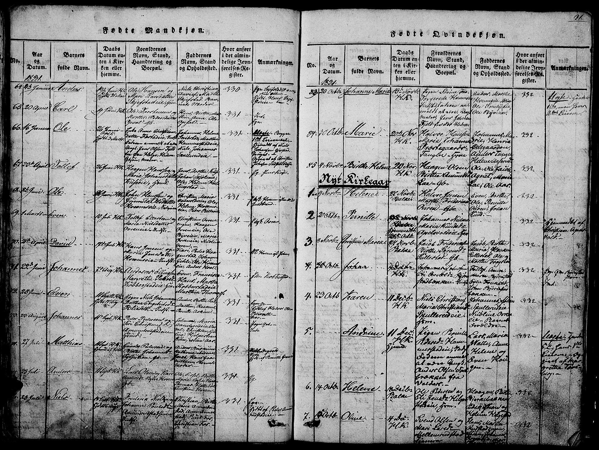 SAH, Østre Toten prestekontor, Klokkerbok nr. 1, 1827-1839, s. 31