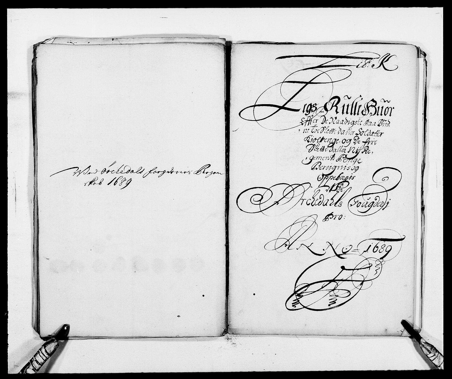 RA, Rentekammeret inntil 1814, Reviderte regnskaper, Fogderegnskap, R58/L3936: Fogderegnskap Orkdal, 1689-1690, s. 96
