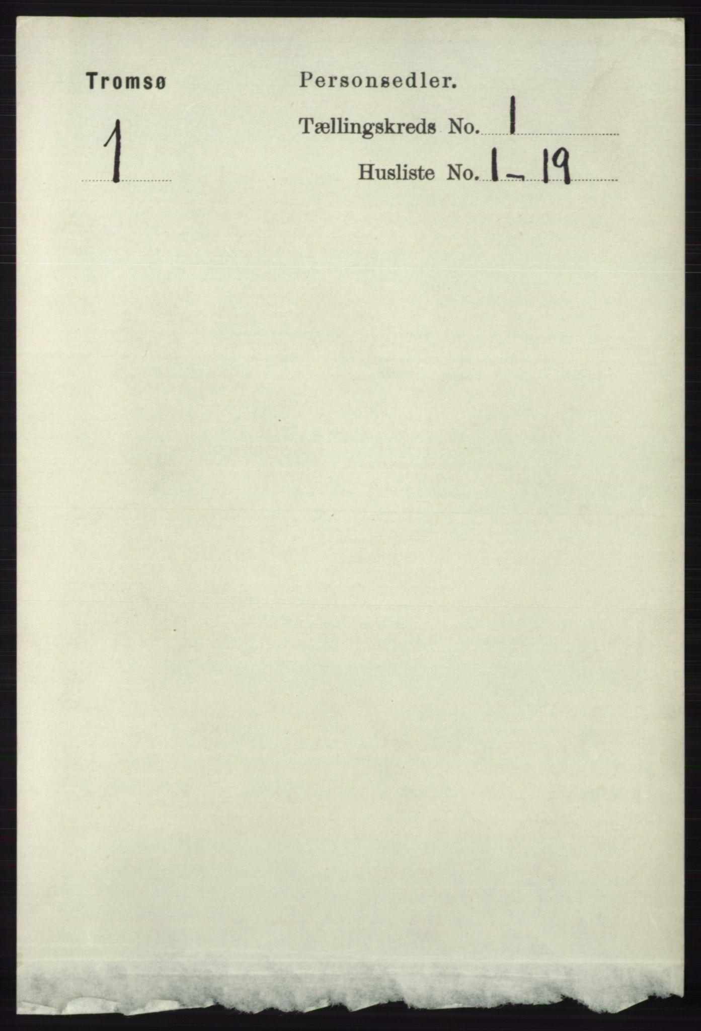 RA, Folketelling 1891 for 1902 Tromsø kjøpstad, 1891, s. 290
