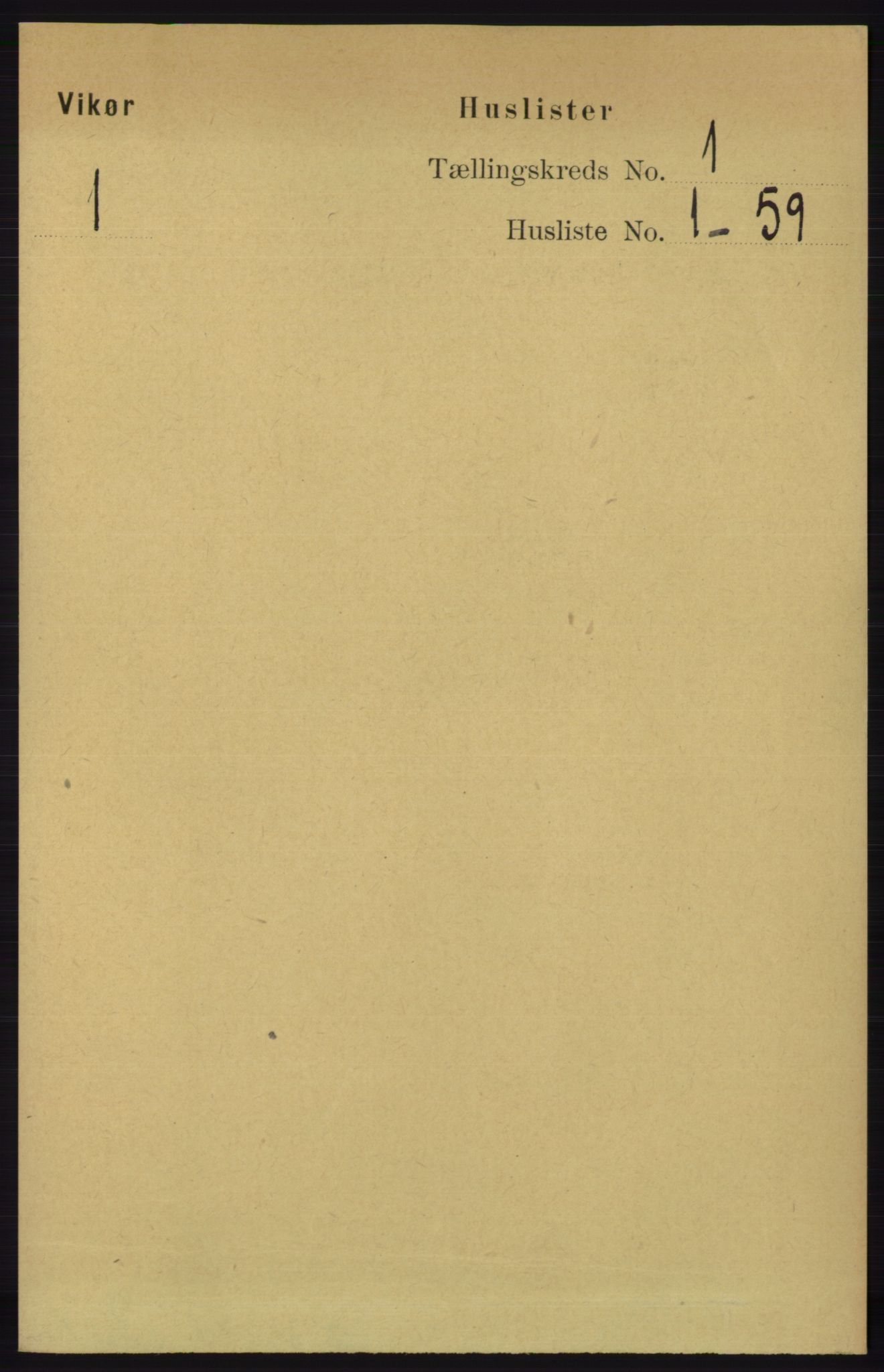 RA, Folketelling 1891 for 1238 Vikør herred, 1891, s. 32