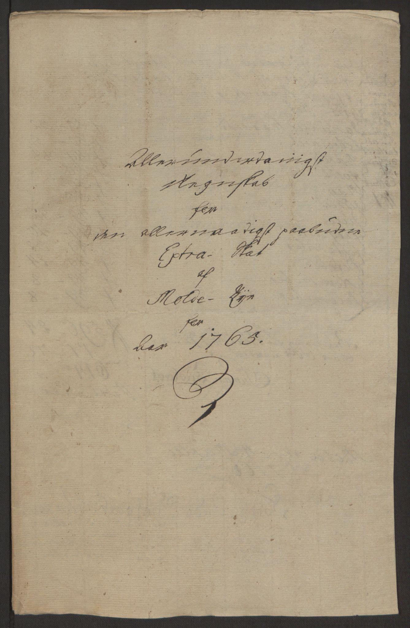 RA, Rentekammeret inntil 1814, Reviderte regnskaper, Byregnskaper, R/Rq/L0487: [Q1] Kontribusjonsregnskap, 1762-1772, s. 109