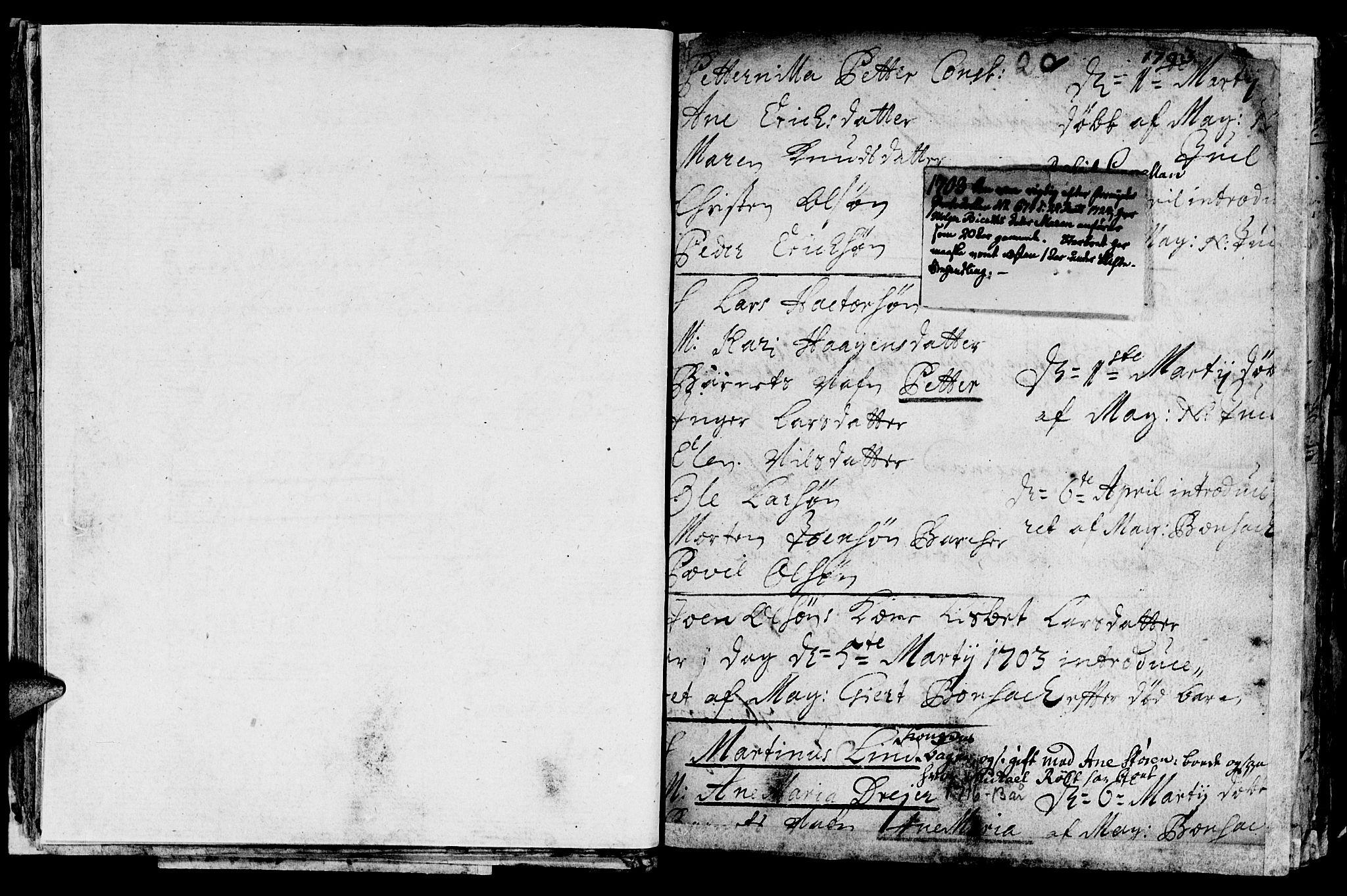 SAT, Ministerialprotokoller, klokkerbøker og fødselsregistre - Sør-Trøndelag, 601/L0034: Ministerialbok nr. 601A02, 1702-1714, s. 20b