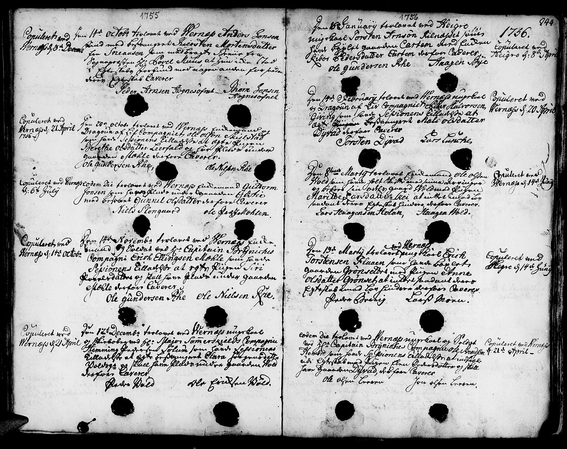 SAT, Ministerialprotokoller, klokkerbøker og fødselsregistre - Nord-Trøndelag, 709/L0056: Ministerialbok nr. 709A04, 1740-1756, s. 244