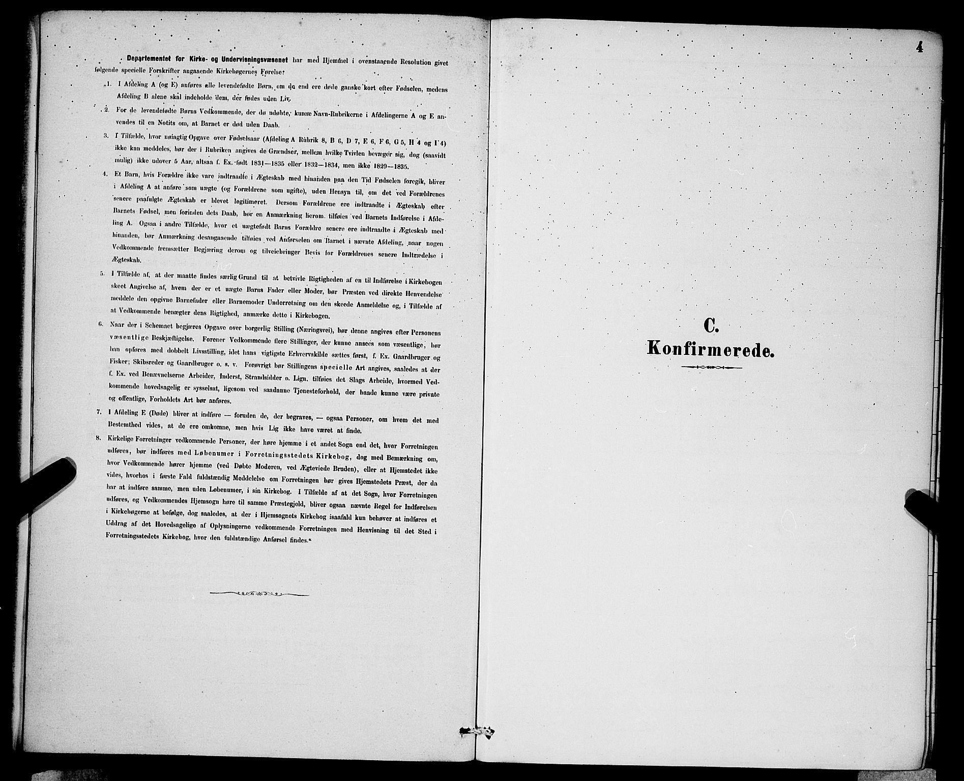 SAB, Domkirken Sokneprestembete, H/Hab/L0024: Klokkerbok nr. C 4, 1880-1899, s. 4