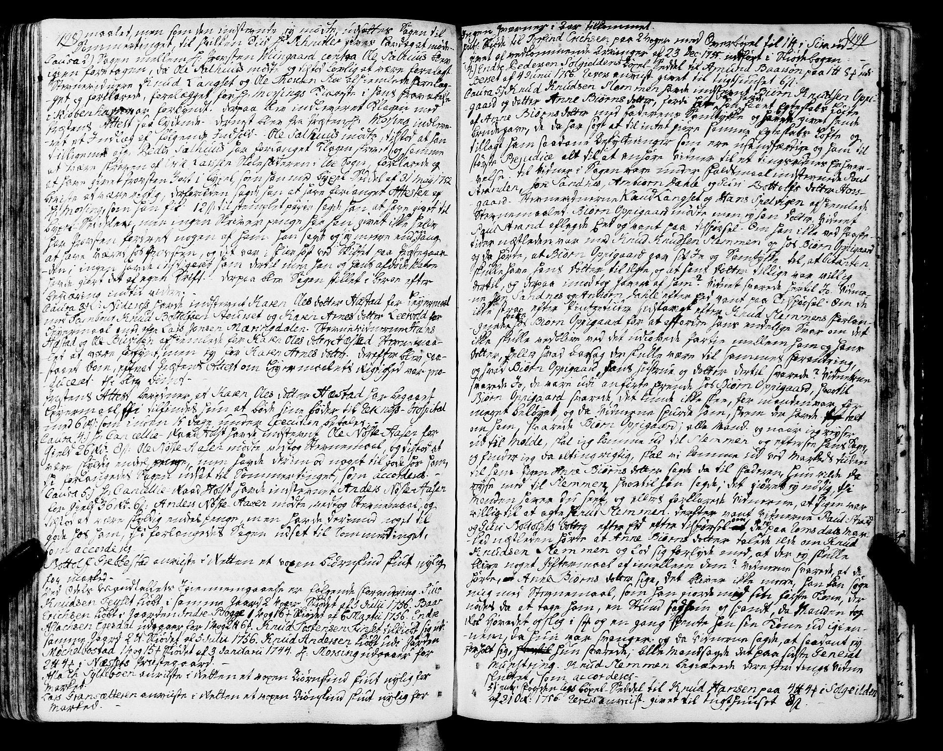 SAT, Romsdal sorenskriveri, 1/1A/L0013: Tingbok, 1749-1757, s. 498-499