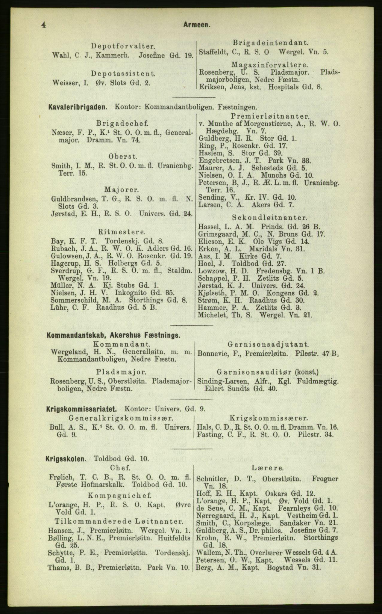 PUBL, Kristiania/Oslo adressebok, 1883, s. 4
