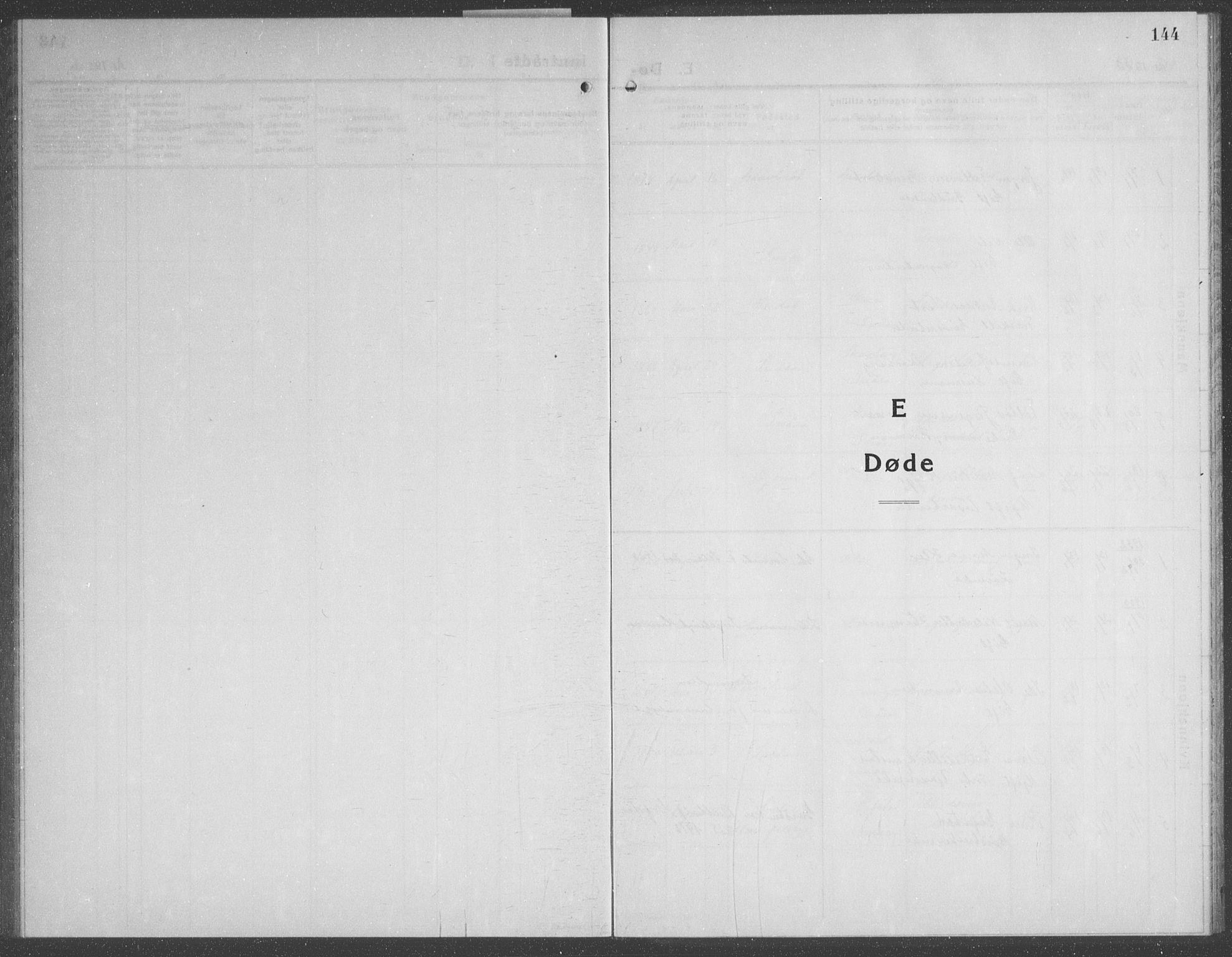 SAT, Ministerialprotokoller, klokkerbøker og fødselsregistre - Nord-Trøndelag, 749/L0481: Klokkerbok nr. 749C03, 1933-1945, s. 144
