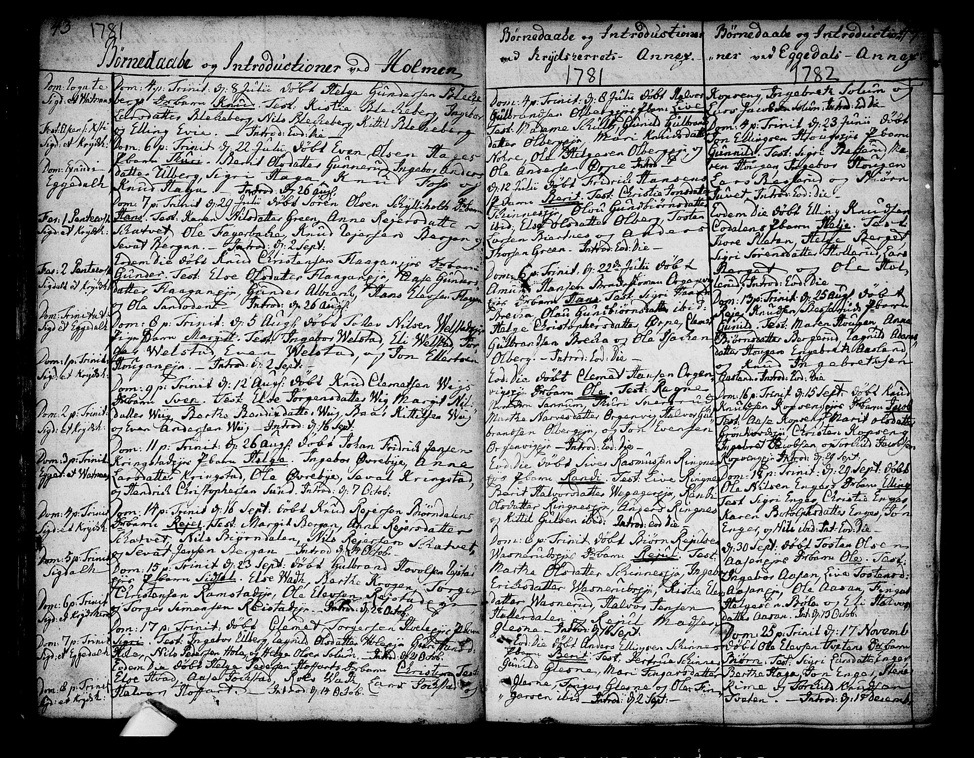 SAKO, Sigdal kirkebøker, F/Fa/L0002: Ministerialbok nr. I 2, 1778-1792, s. 43-44