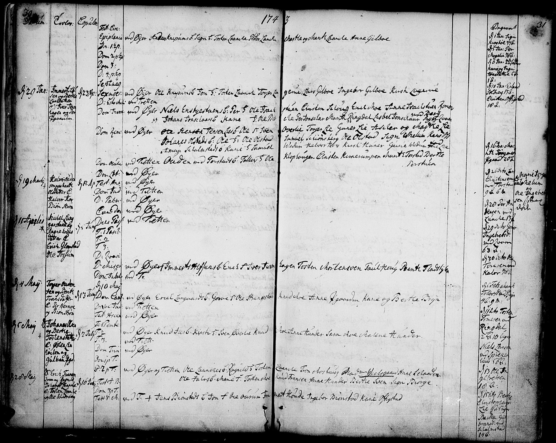 SAH, Øyer prestekontor, Ministerialbok nr. 2, 1733-1784, s. 30-31