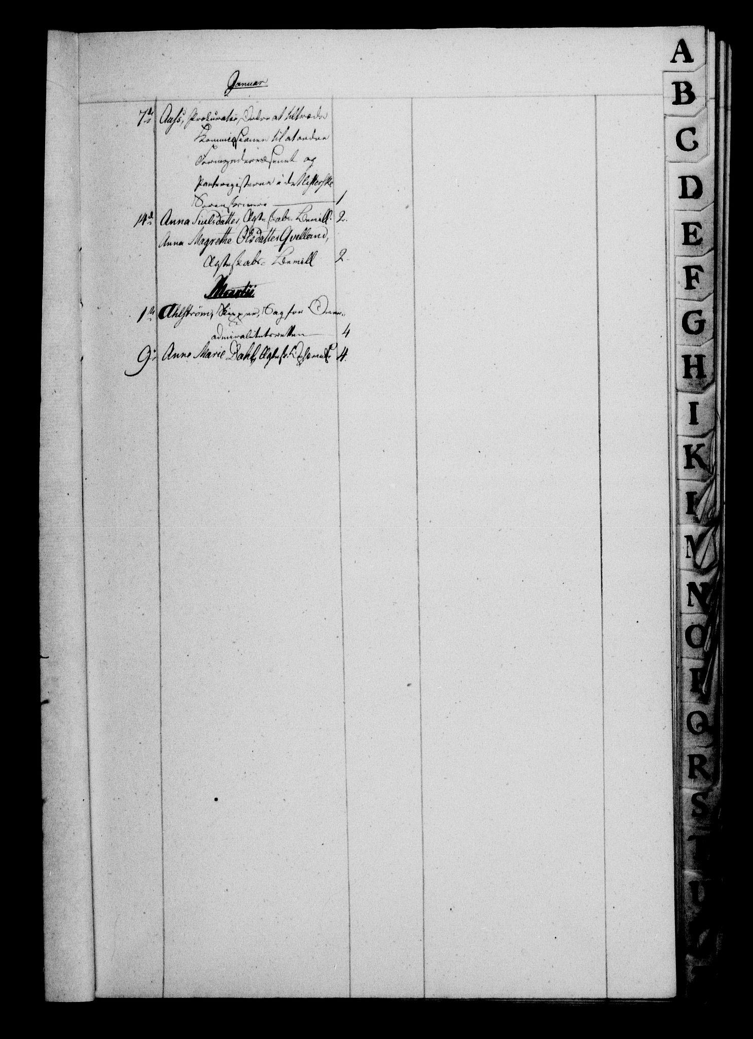 RA, Danske Kanselli 1800-1814, H/Hf/Hfb/Hfbc/L0015: Underskrivelsesbok m. register, 1814, s. 5