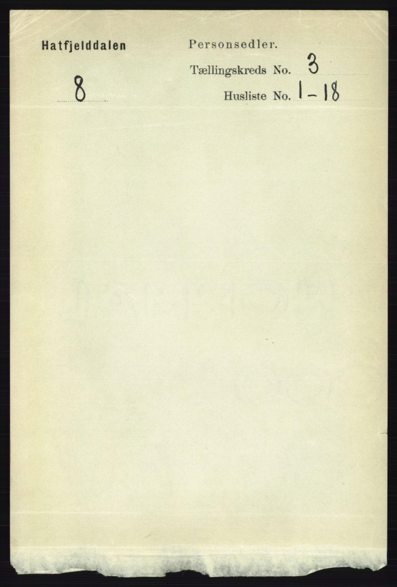 RA, Folketelling 1891 for 1826 Hattfjelldal herred, 1891, s. 631