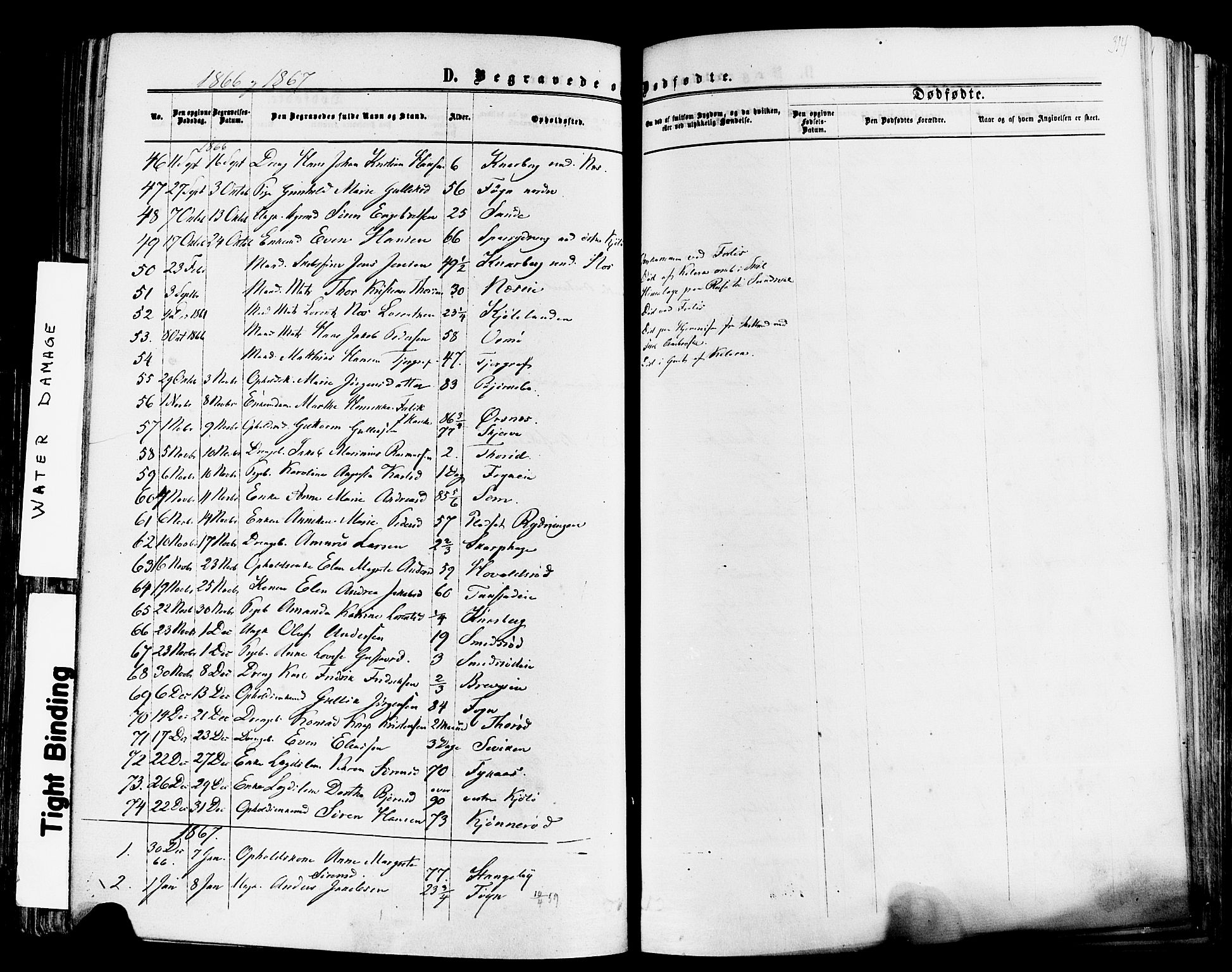 SAKO, Nøtterøy kirkebøker, F/Fa/L0007: Ministerialbok nr. I 7, 1865-1877, s. 314