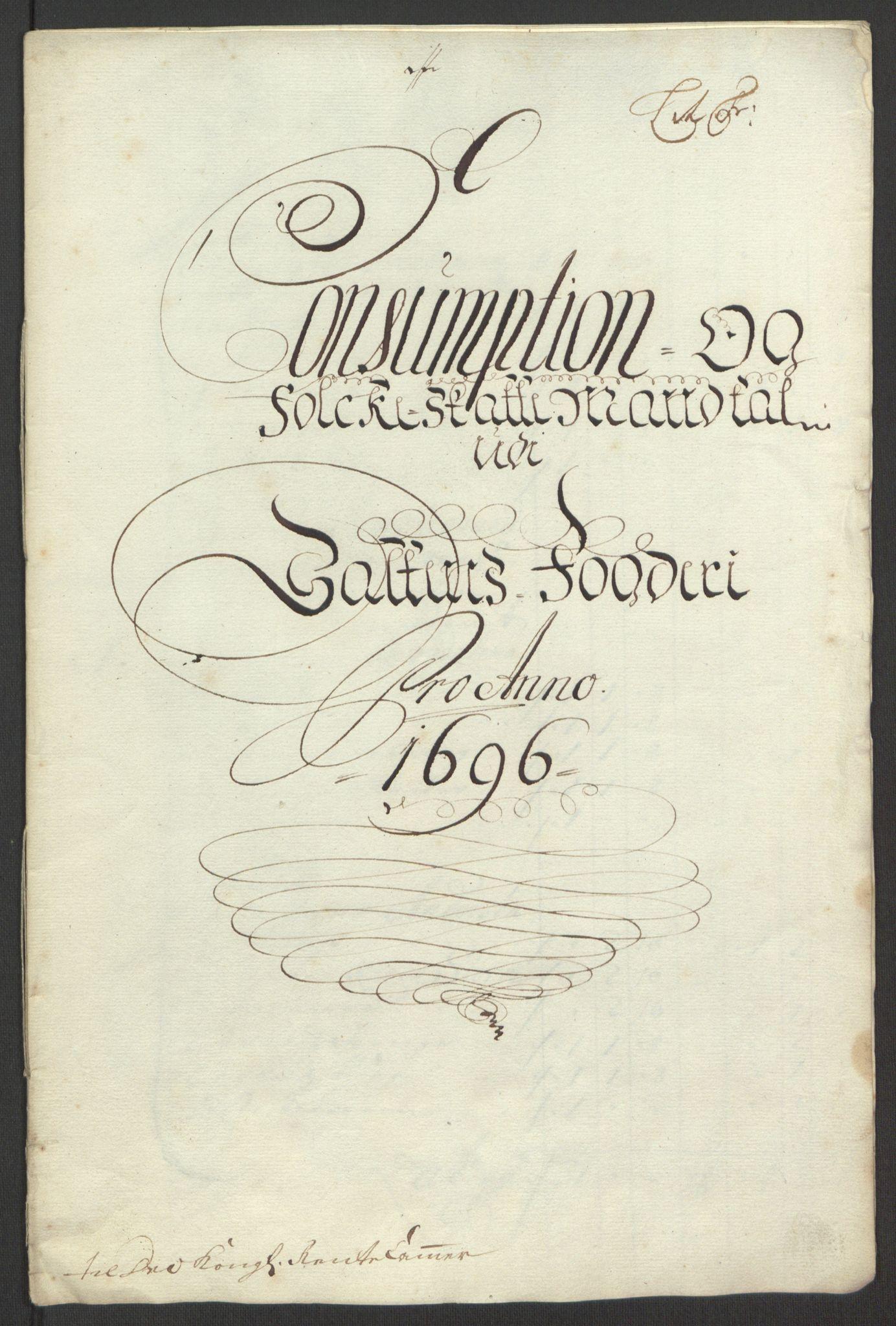 RA, Rentekammeret inntil 1814, Reviderte regnskaper, Fogderegnskap, R66/L4578: Fogderegnskap Salten, 1694-1696, s. 256