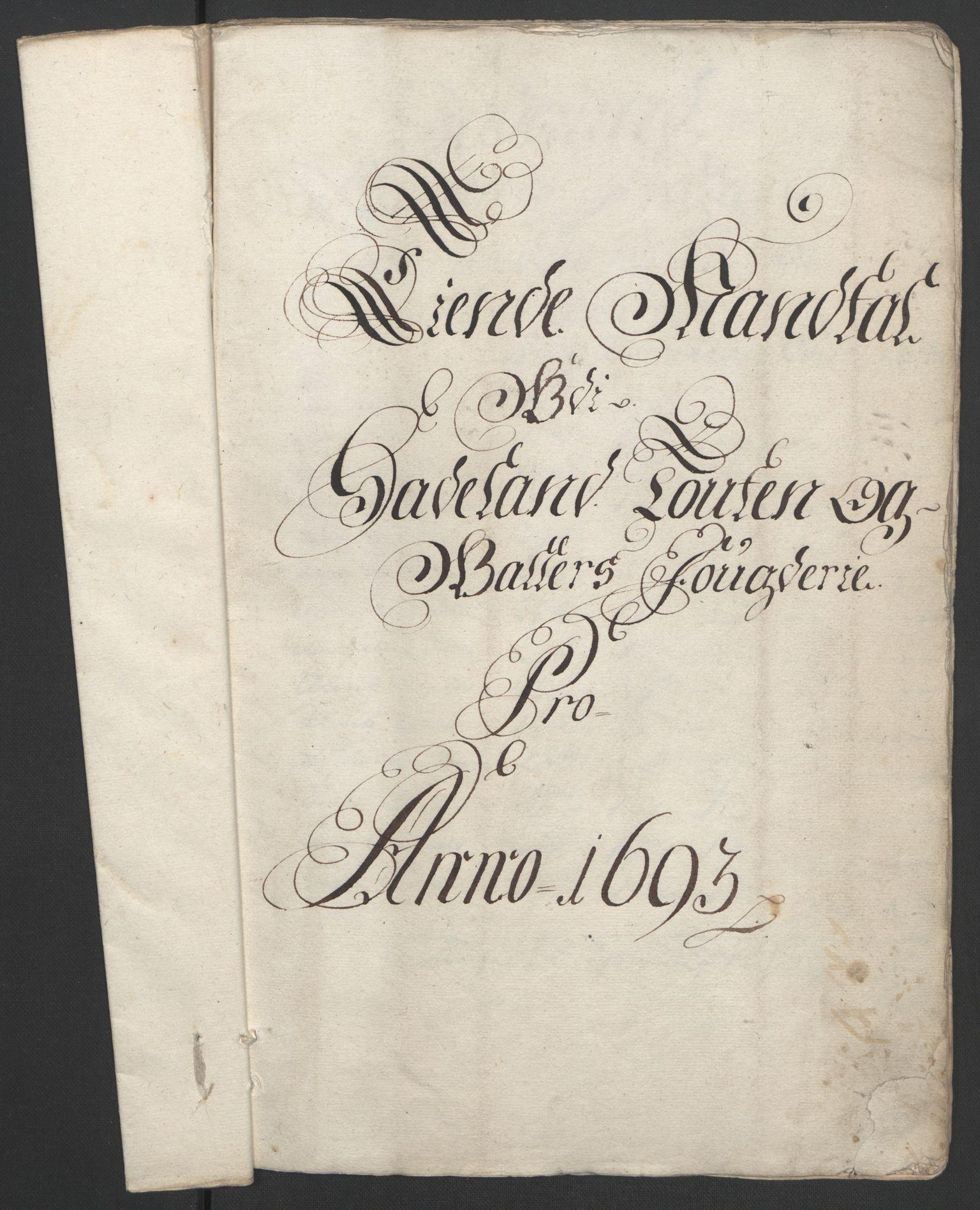 RA, Rentekammeret inntil 1814, Reviderte regnskaper, Fogderegnskap, R18/L1292: Fogderegnskap Hadeland, Toten og Valdres, 1693-1694, s. 17