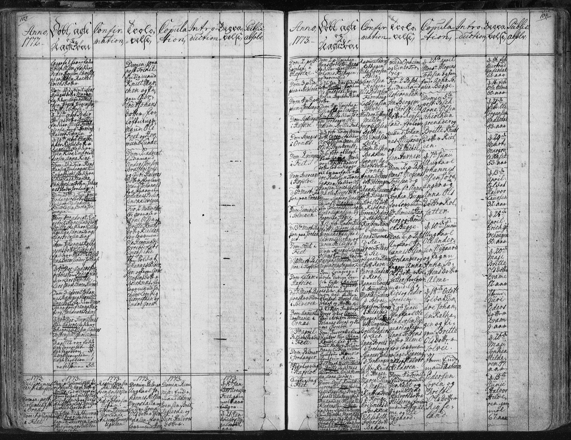 SAB, Hafslo Sokneprestembete, Ministerialbok nr. A 2, 1755-1806, s. 103-104