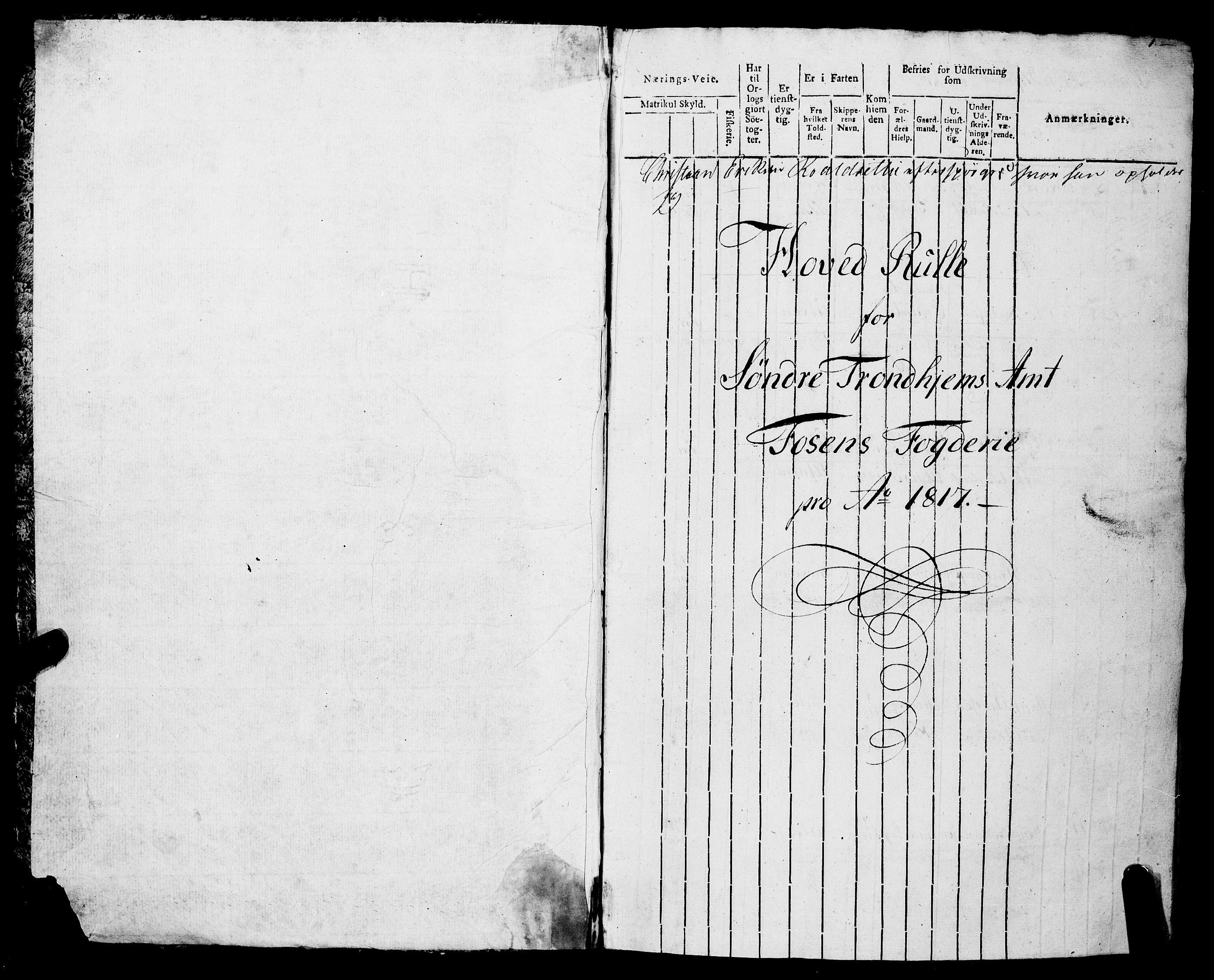 SAT, Sjøinnrulleringen - Trondhjemske distrikt, 01/L0315: --, 1817