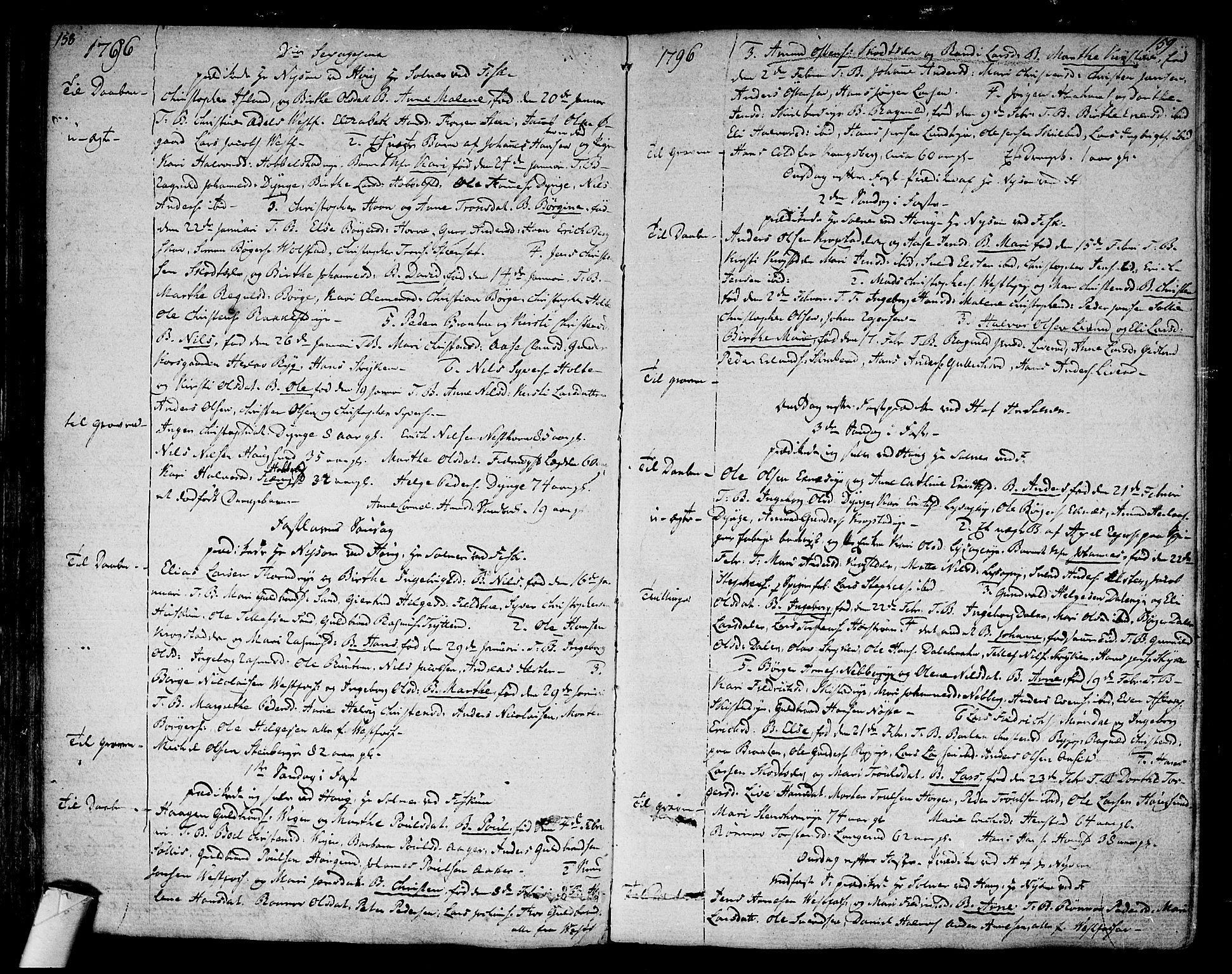 SAKO, Eiker kirkebøker, F/Fa/L0009: Ministerialbok nr. I 9, 1789-1806, s. 158-159