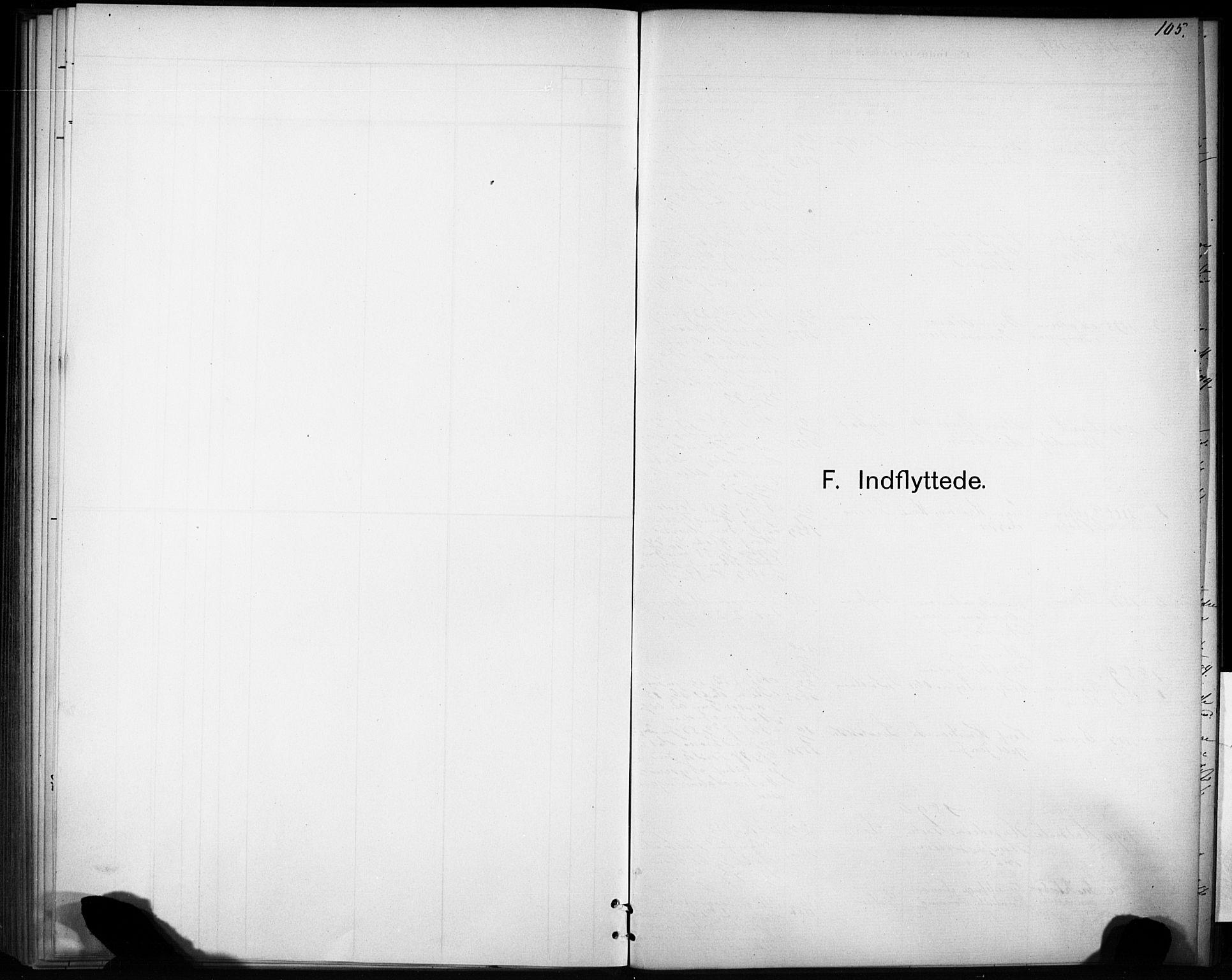 SAT, Ministerialprotokoller, klokkerbøker og fødselsregistre - Sør-Trøndelag, 693/L1119: Ministerialbok nr. 693A01, 1887-1905, s. 105