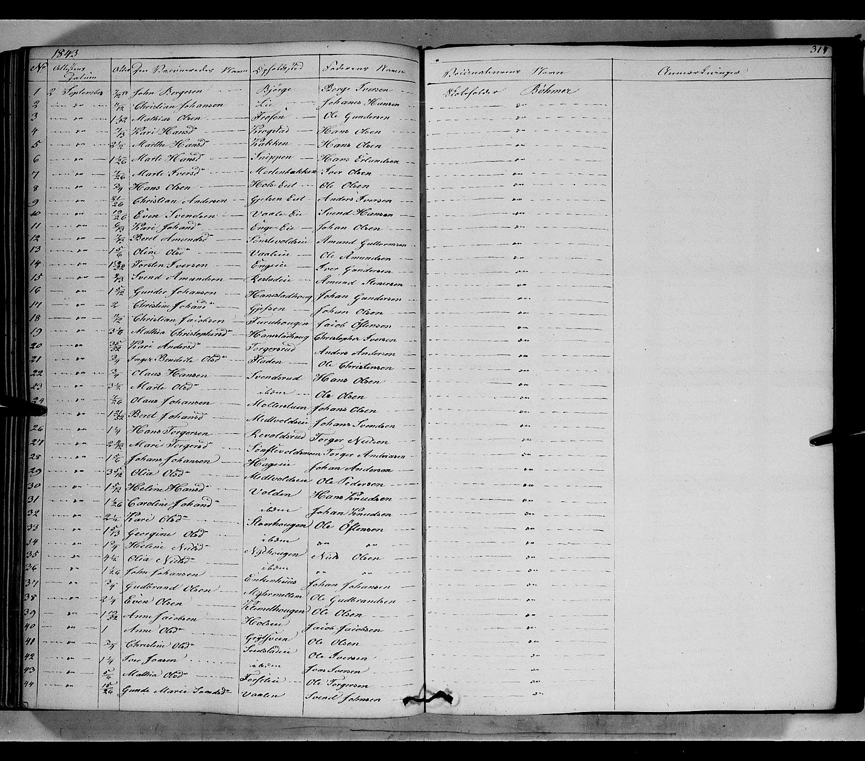 SAH, Gausdal prestekontor, Ministerialbok nr. 7, 1840-1850, s. 314