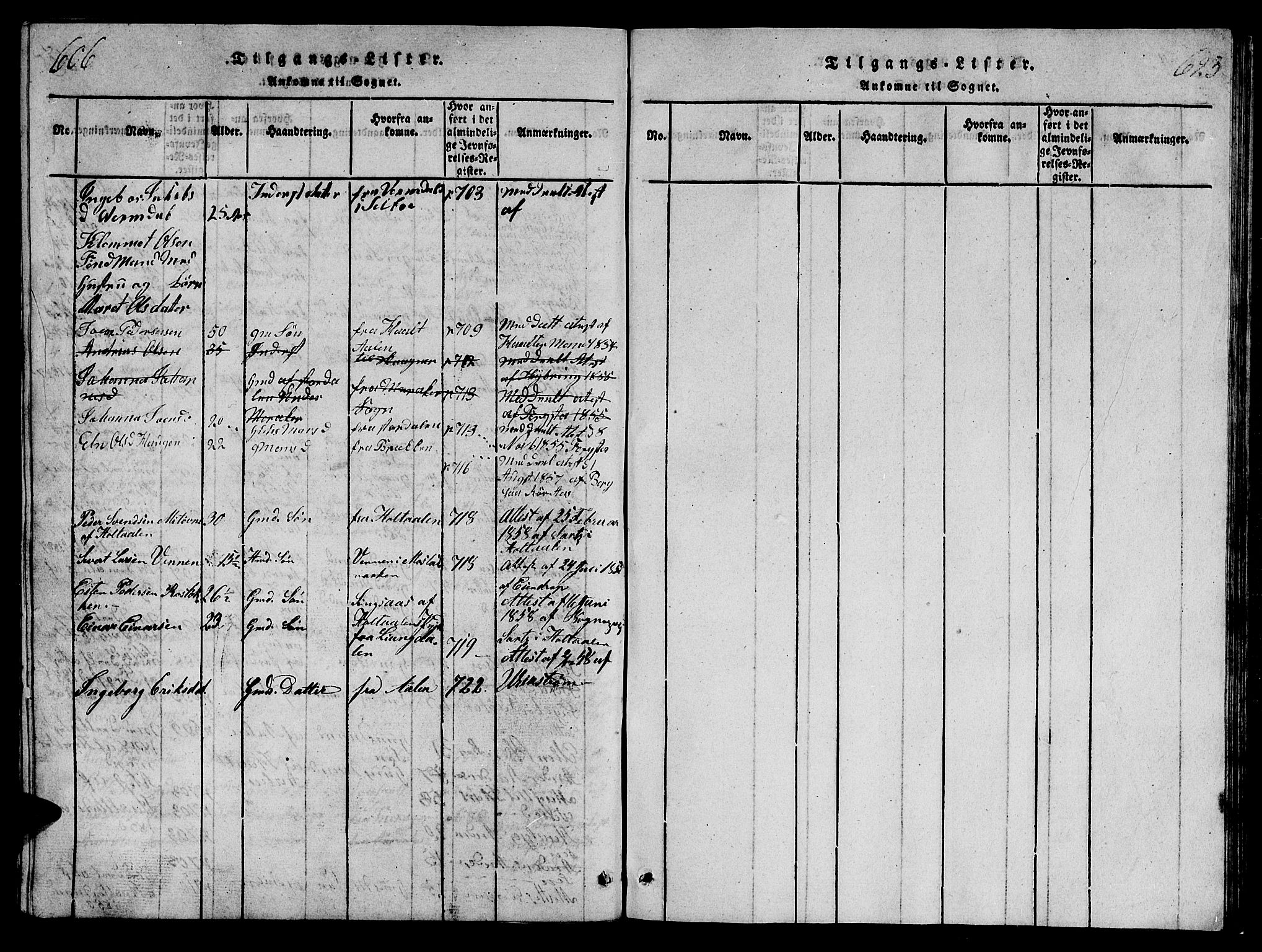 SAT, Ministerialprotokoller, klokkerbøker og fødselsregistre - Sør-Trøndelag, 698/L1164: Klokkerbok nr. 698C01, 1816-1861, s. 606-623