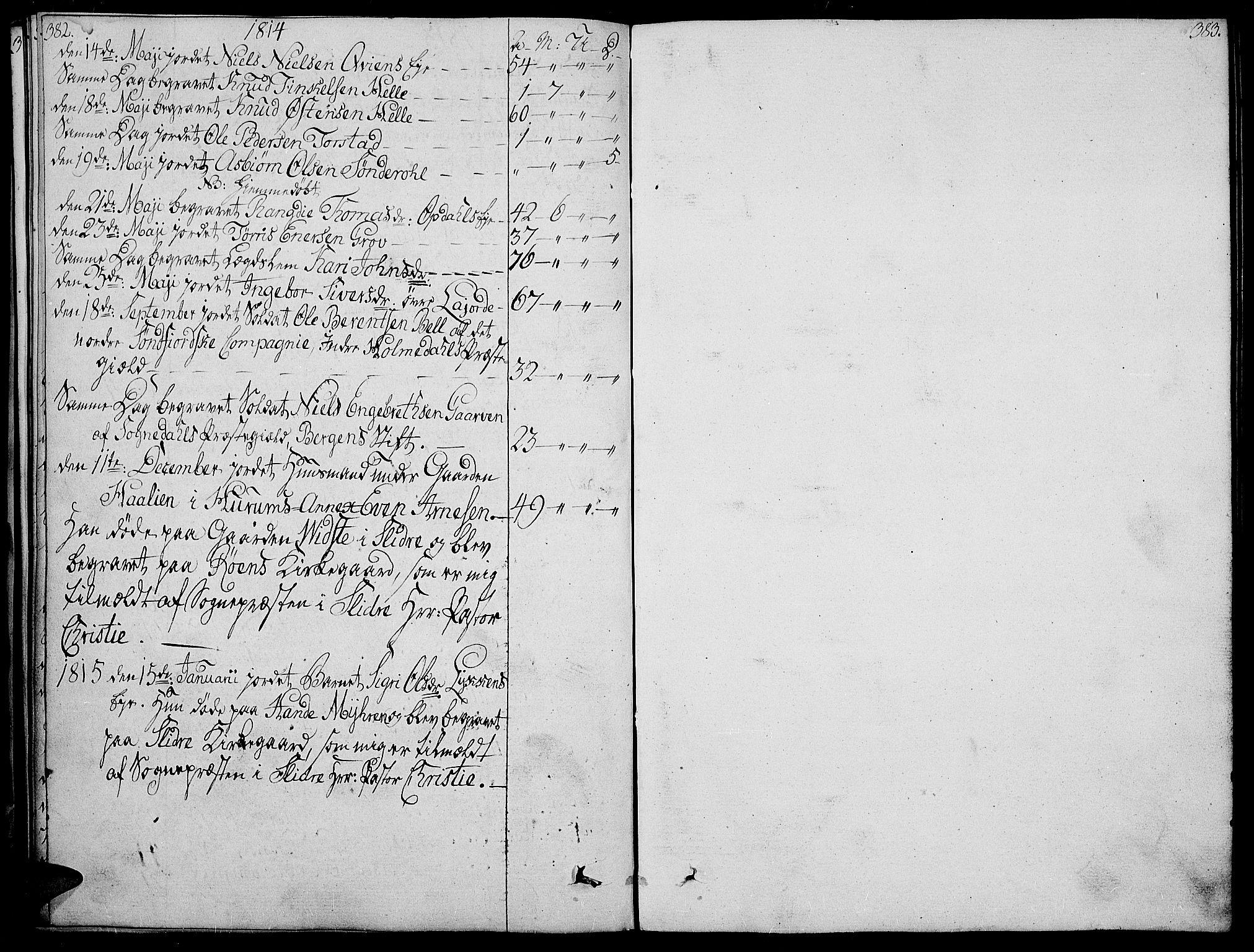 SAH, Vang prestekontor, Valdres, Ministerialbok nr. 3, 1809-1831, s. 382-383