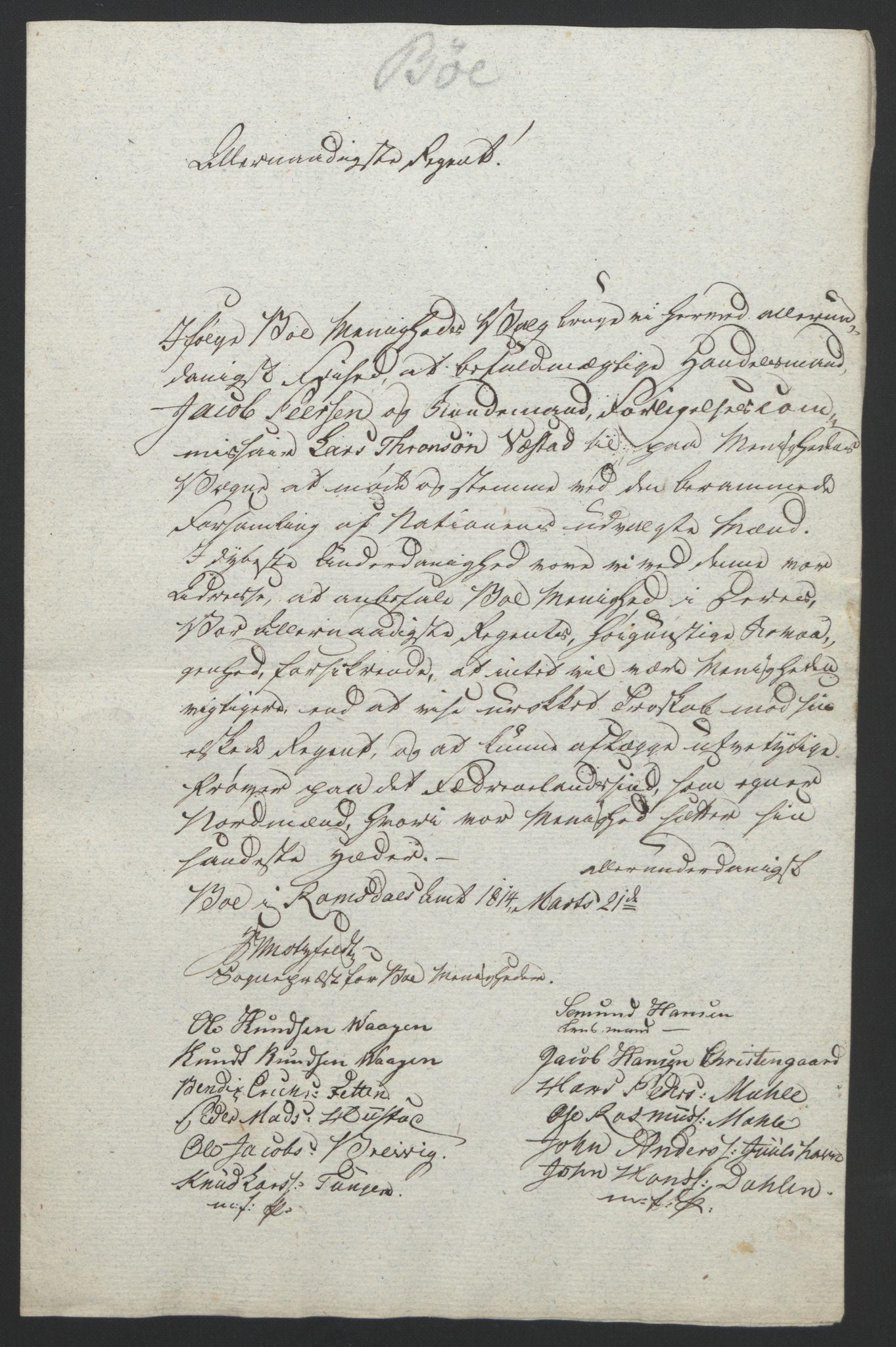 RA, Statsrådssekretariatet, D/Db/L0008: Fullmakter for Eidsvollsrepresentantene i 1814. , 1814, s. 366