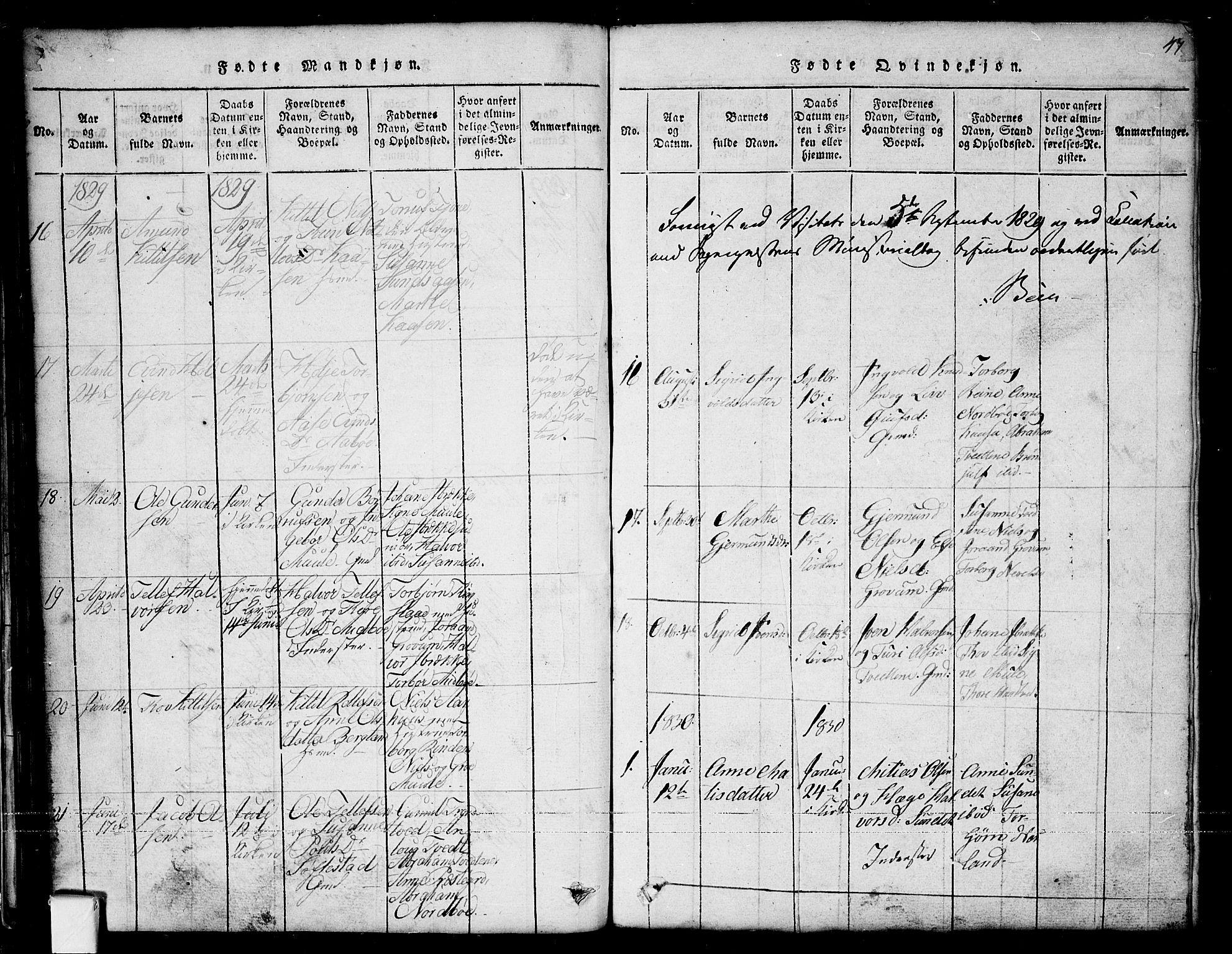 SAKO, Nissedal kirkebøker, G/Ga/L0001: Klokkerbok nr. I 1, 1814-1860, s. 47