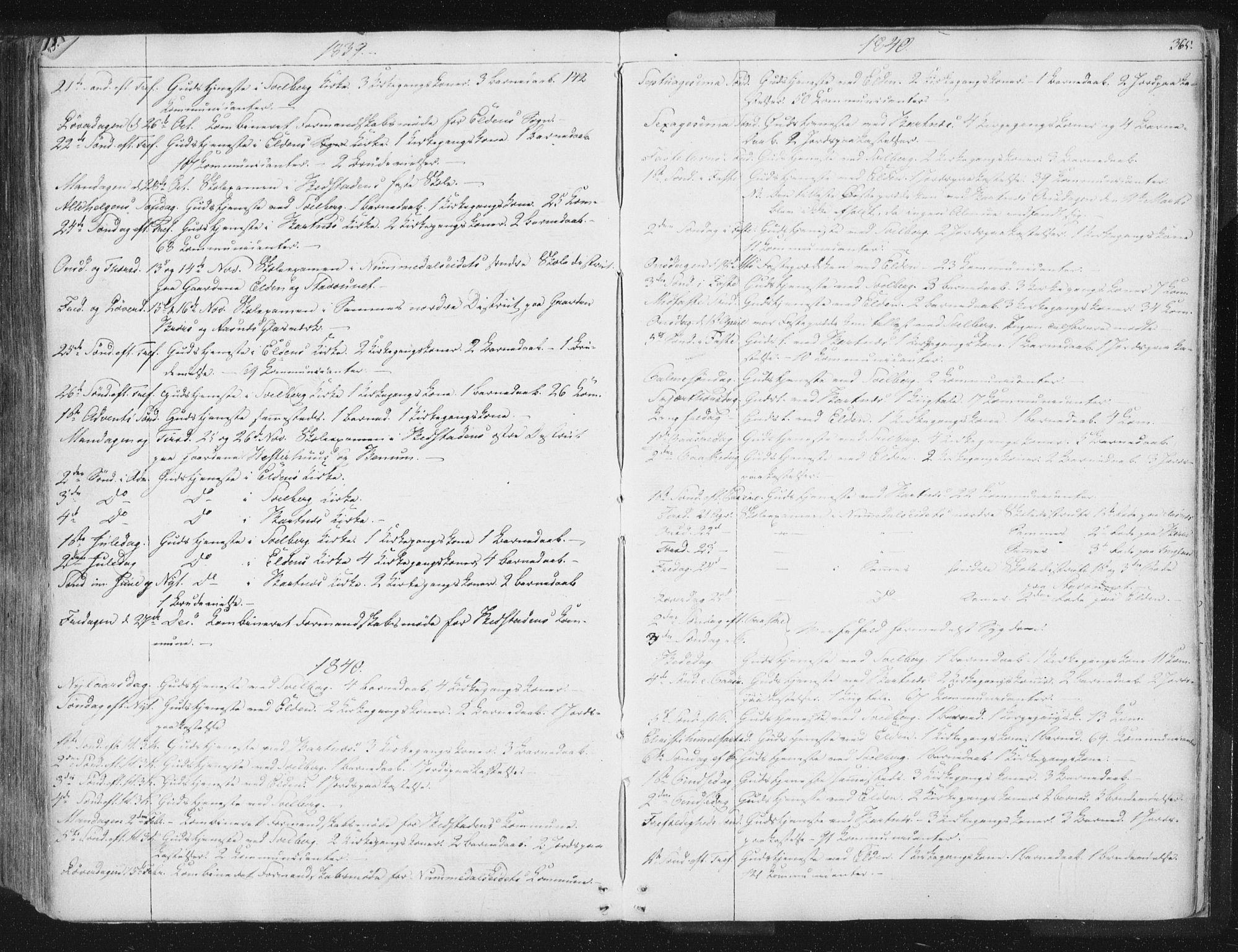 SAT, Ministerialprotokoller, klokkerbøker og fødselsregistre - Nord-Trøndelag, 741/L0392: Ministerialbok nr. 741A06, 1836-1848, s. 365