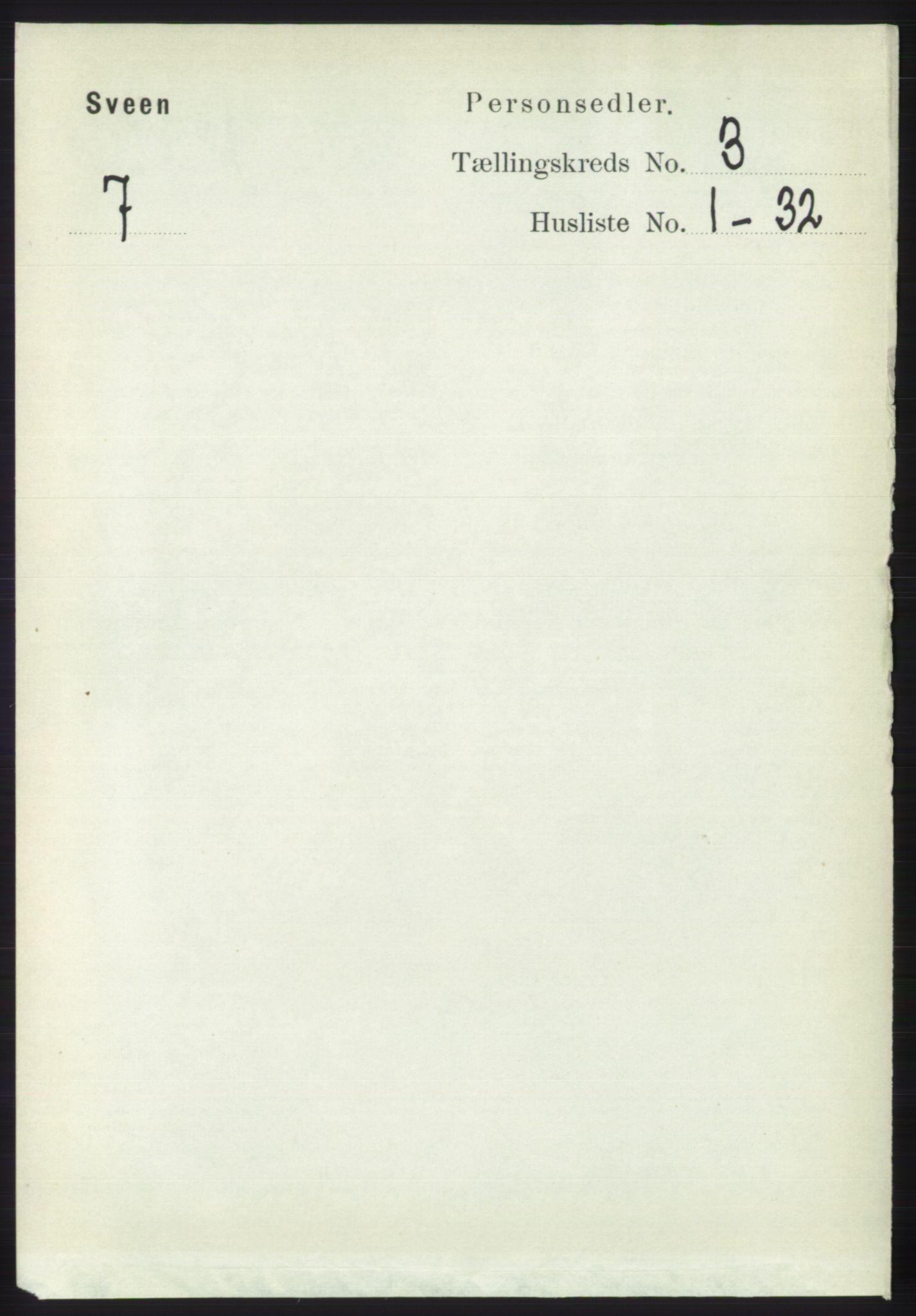 RA, Folketelling 1891 for 1216 Sveio herred, 1891, s. 813