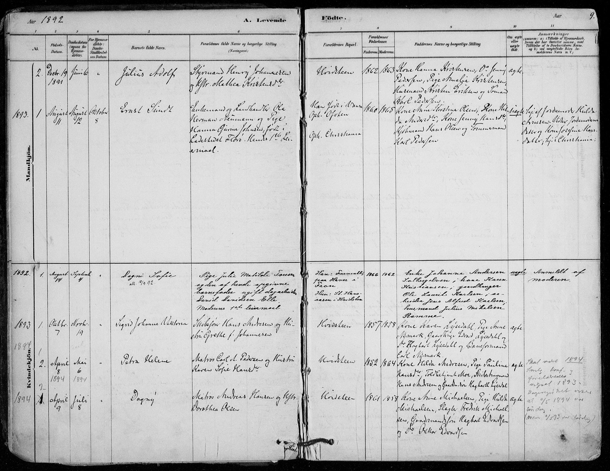 SAO, Vestby prestekontor Kirkebøker, F/Fd/L0001: Ministerialbok nr. IV 1, 1878-1945, s. 9