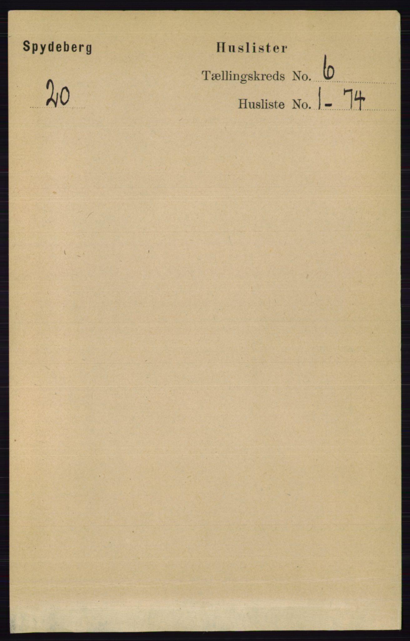 RA, Folketelling 1891 for 0123 Spydeberg herred, 1891, s. 2760