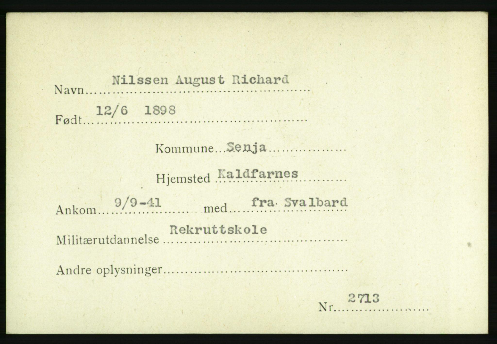 NHM, Forsvarets Overkommando. 2. kontor. Arkiv 8.1. Mottakersentralen FDE og FO.II, P/Pa/L0015: Kortsamling, 1940-1945