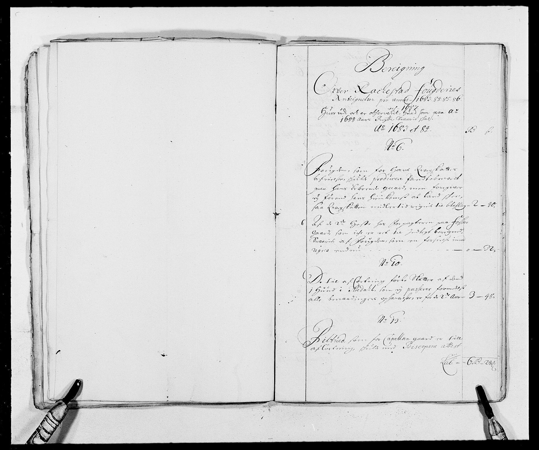 RA, Rentekammeret inntil 1814, Reviderte regnskaper, Fogderegnskap, R05/L0276: Fogderegnskap Rakkestad, 1683-1688, s. 397