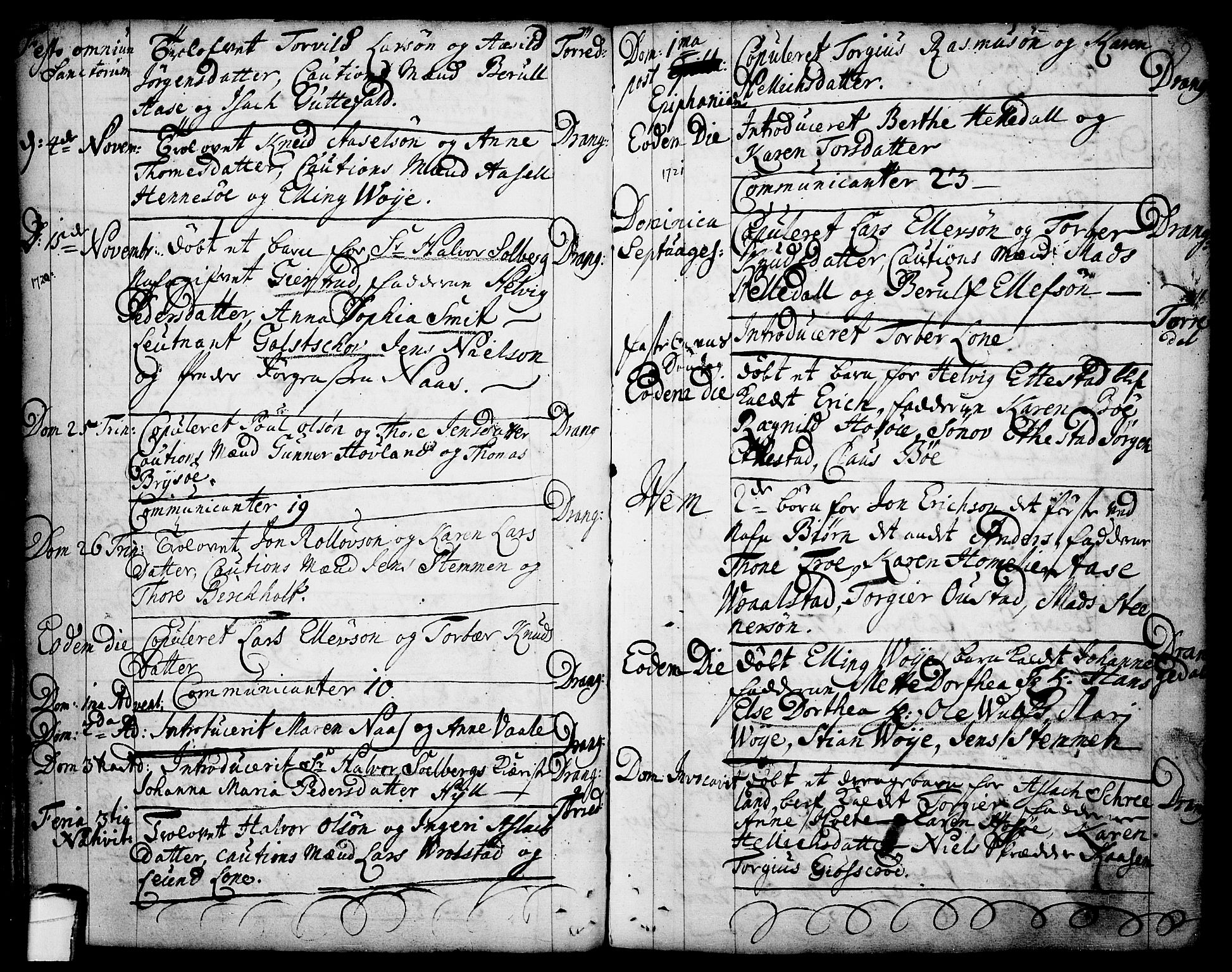 SAKO, Drangedal kirkebøker, F/Fa/L0001: Ministerialbok nr. 1, 1697-1767, s. 39