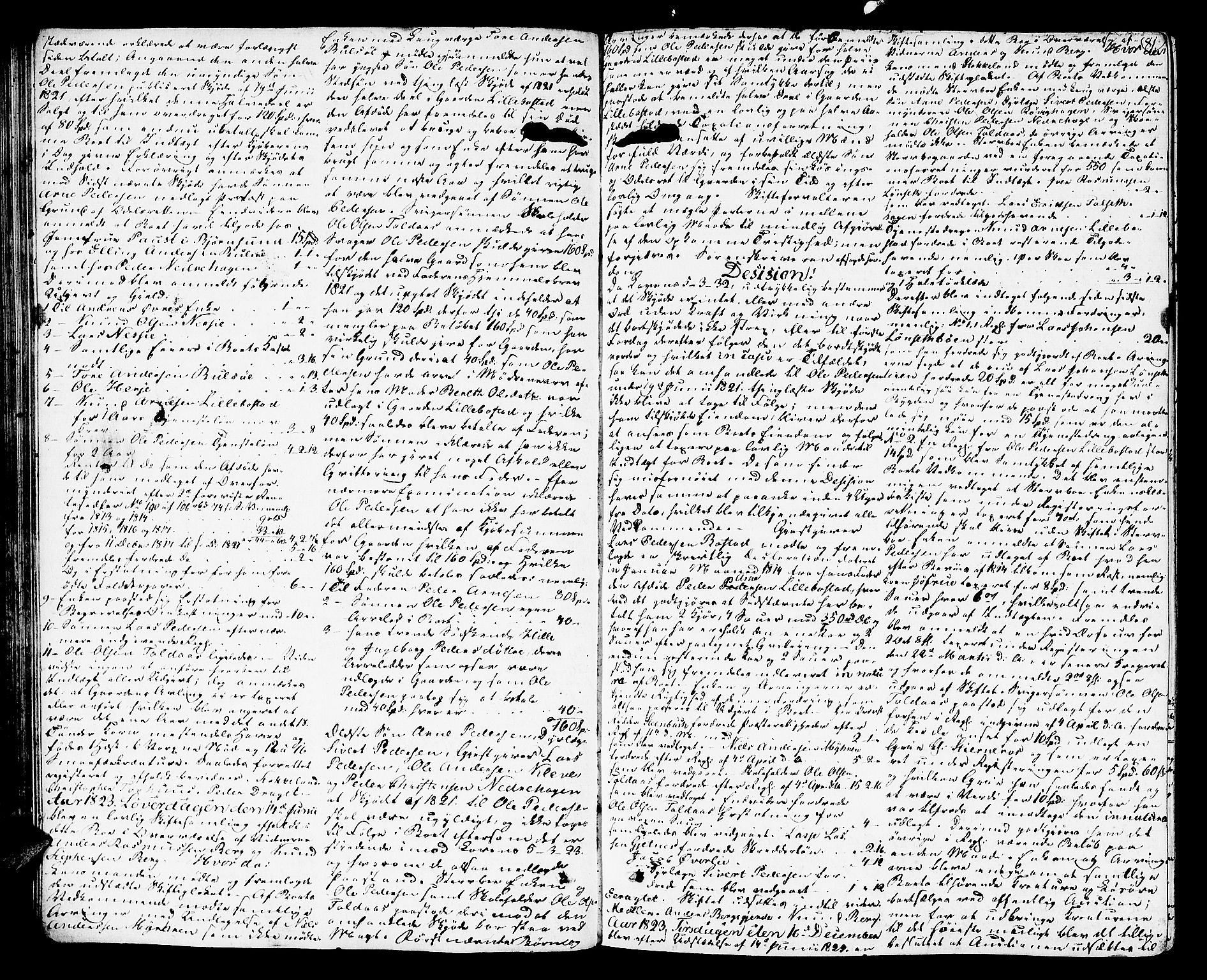 SAT, Romsdal sorenskriveri, 3/3A/L0016: Skifteutlodnings Protokoll 2, 1823-1831, s. 81