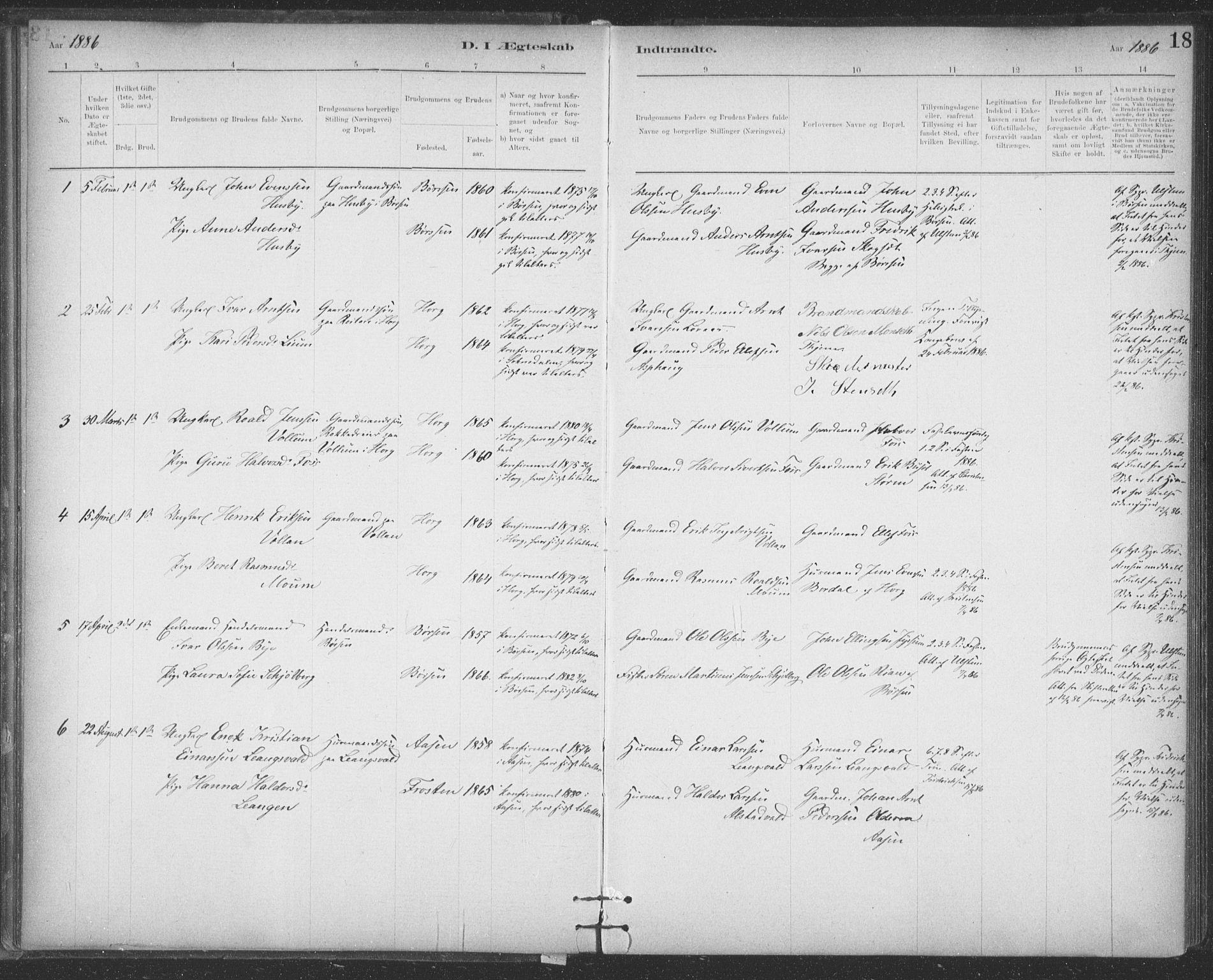 SAT, Ministerialprotokoller, klokkerbøker og fødselsregistre - Sør-Trøndelag, 623/L0470: Ministerialbok nr. 623A04, 1884-1938, s. 18