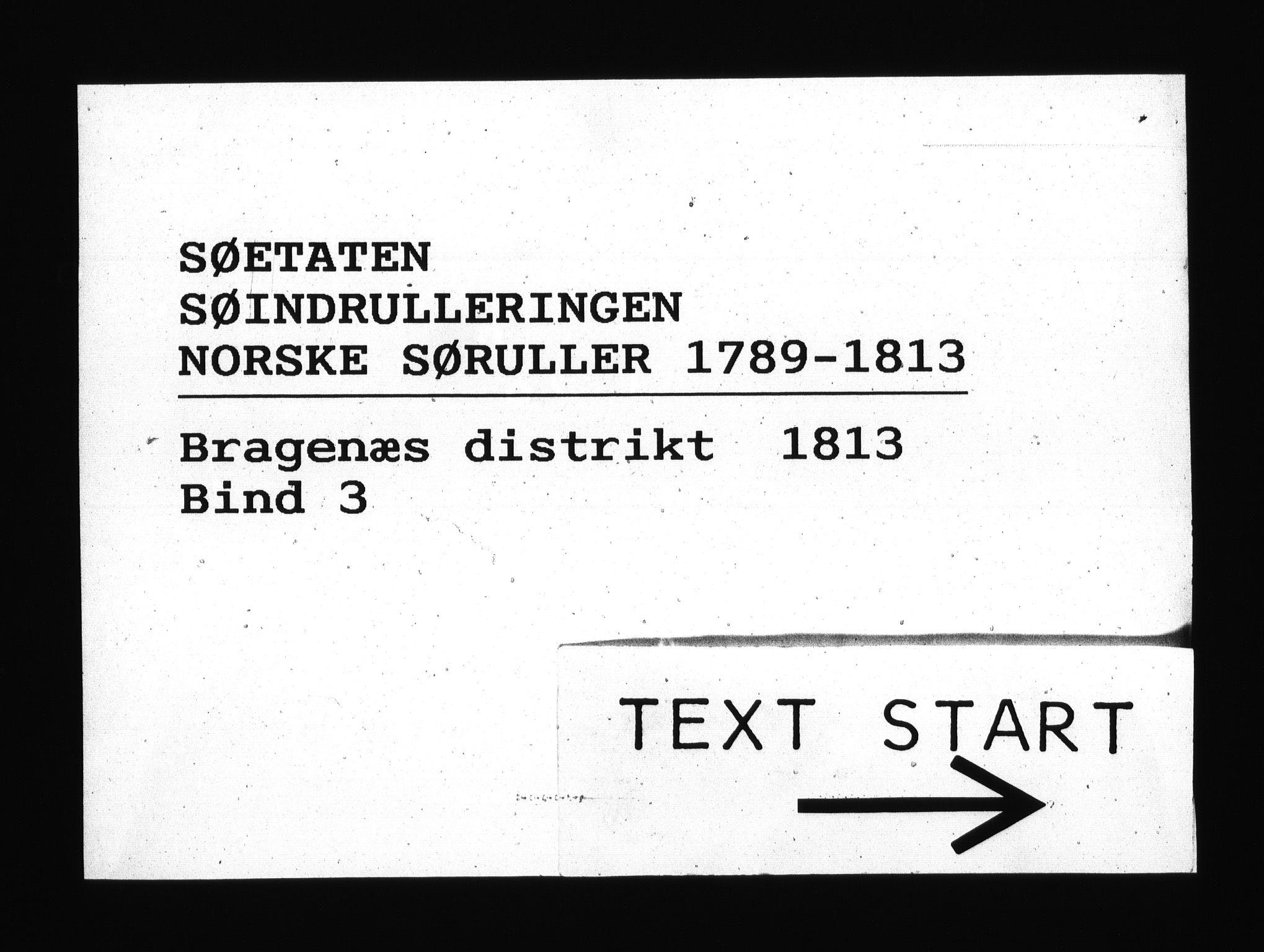 RA, Sjøetaten, F/L0170: Bragernes distrikt, bind 3, 1813