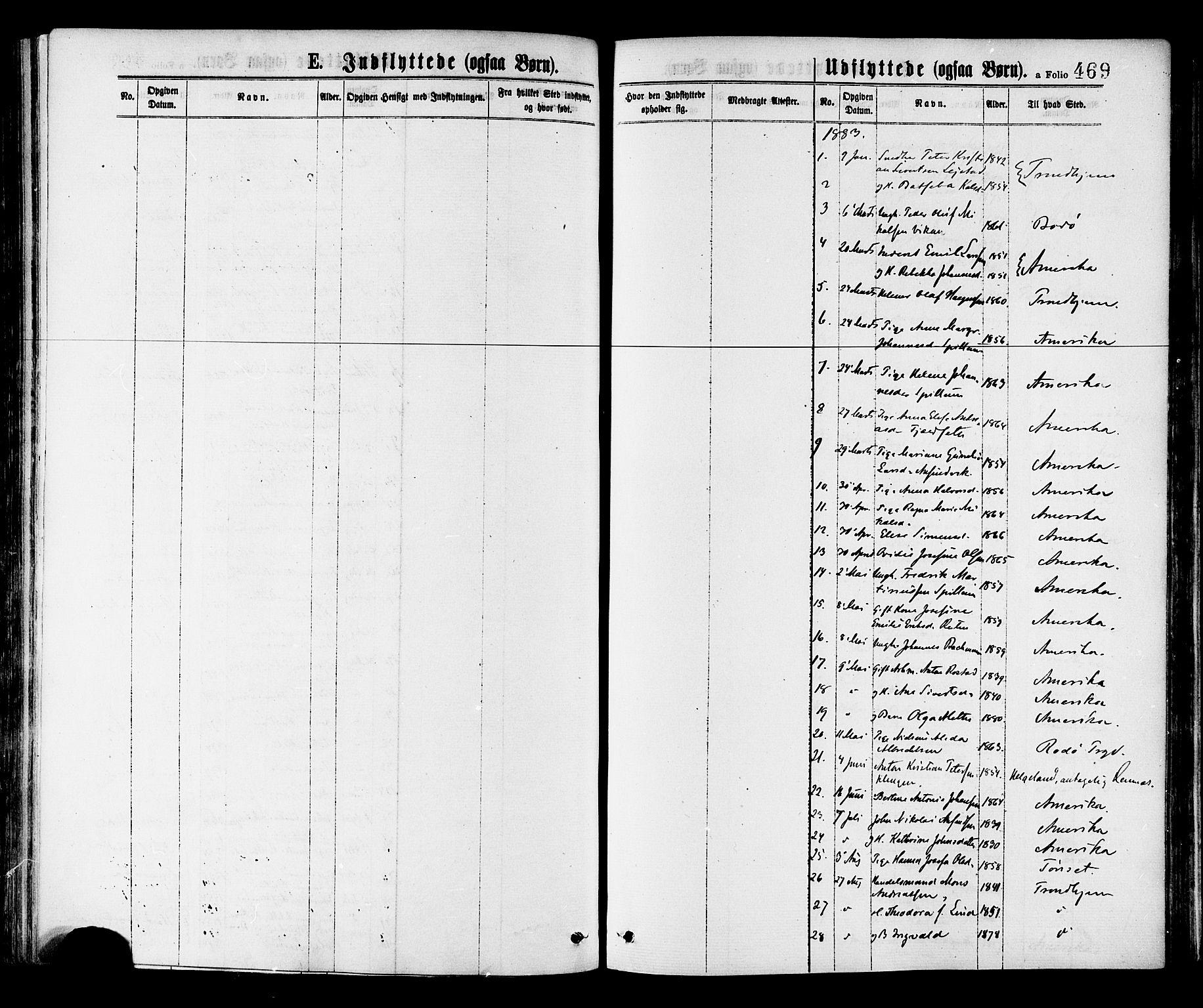SAT, Ministerialprotokoller, klokkerbøker og fødselsregistre - Nord-Trøndelag, 768/L0572: Ministerialbok nr. 768A07, 1874-1886, s. 469
