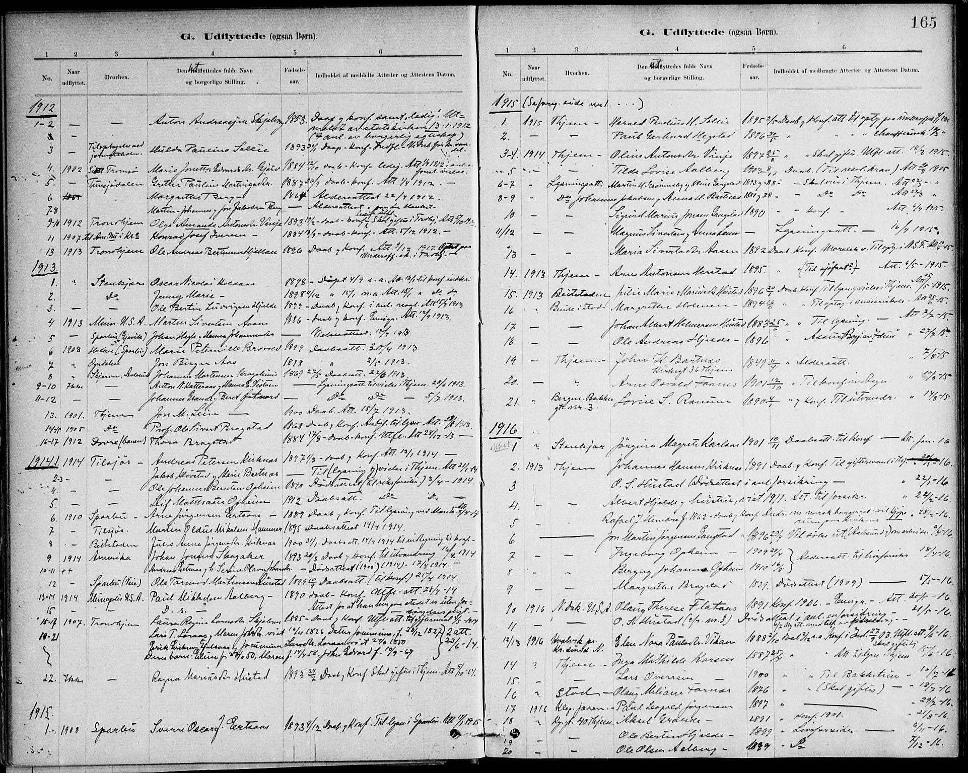 SAT, Ministerialprotokoller, klokkerbøker og fødselsregistre - Nord-Trøndelag, 732/L0316: Ministerialbok nr. 732A01, 1879-1921, s. 165