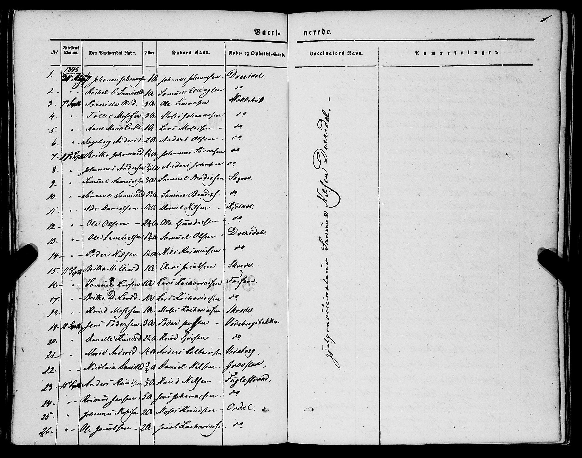 SAB, Jølster Sokneprestembete, H/Haa/Haaa/L0010: Ministerialbok nr. A 10, 1847-1865, s. 1