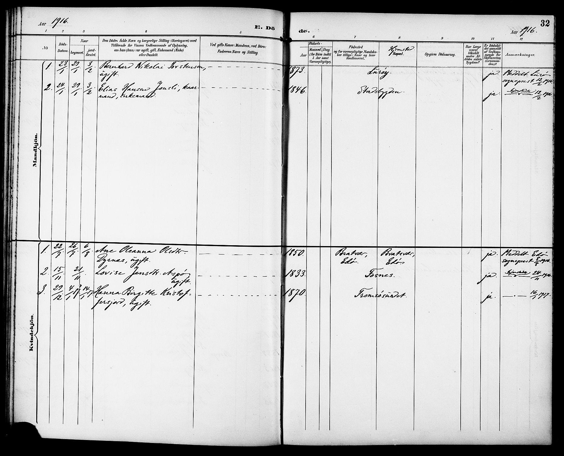 SAT, Ministerialprotokoller, klokkerbøker og fødselsregistre - Sør-Trøndelag, 629/L0486: Ministerialbok nr. 629A02, 1894-1919, s. 32