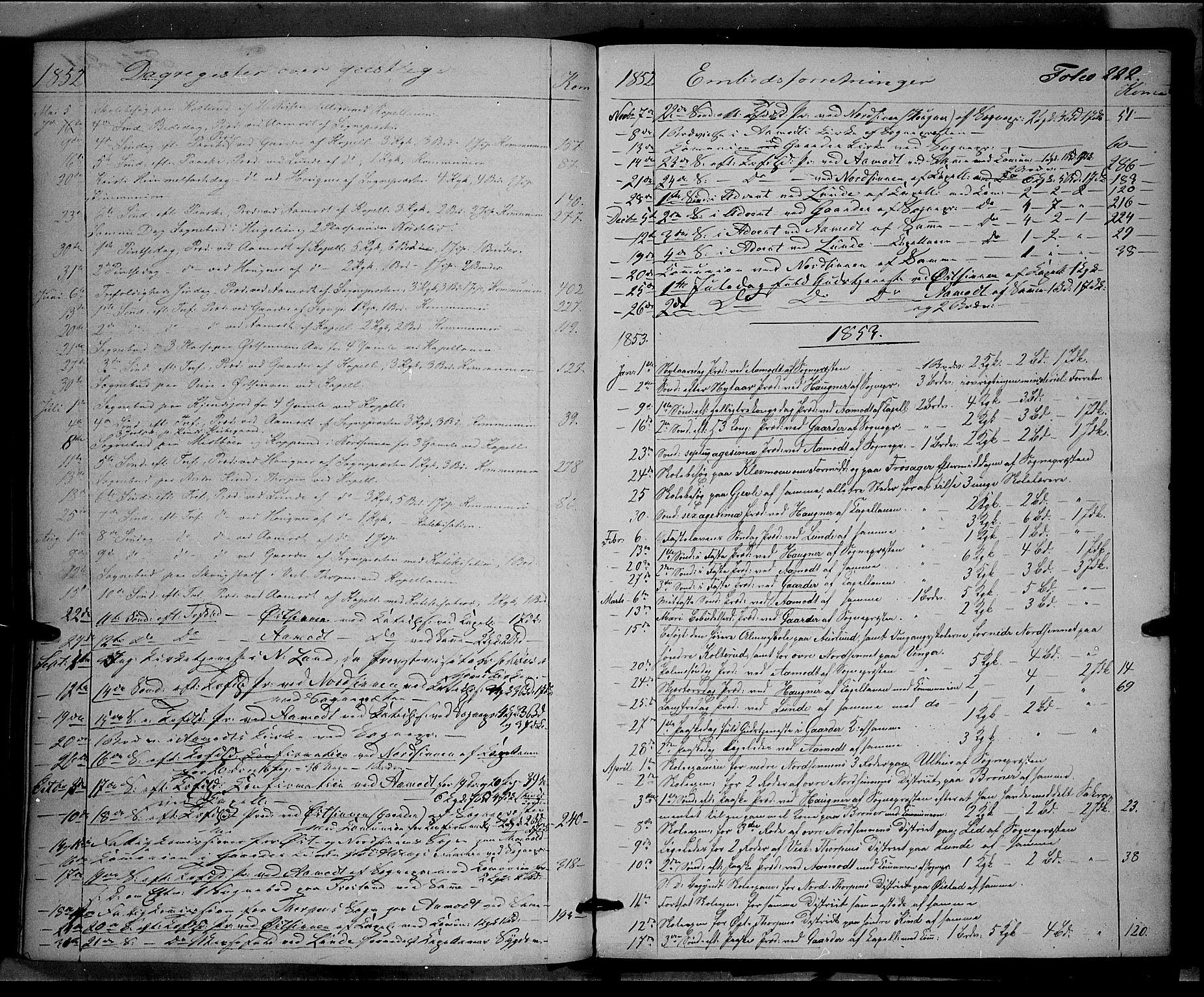 SAH, Land prestekontor, Ministerialbok nr. 10, 1847-1859, s. 222